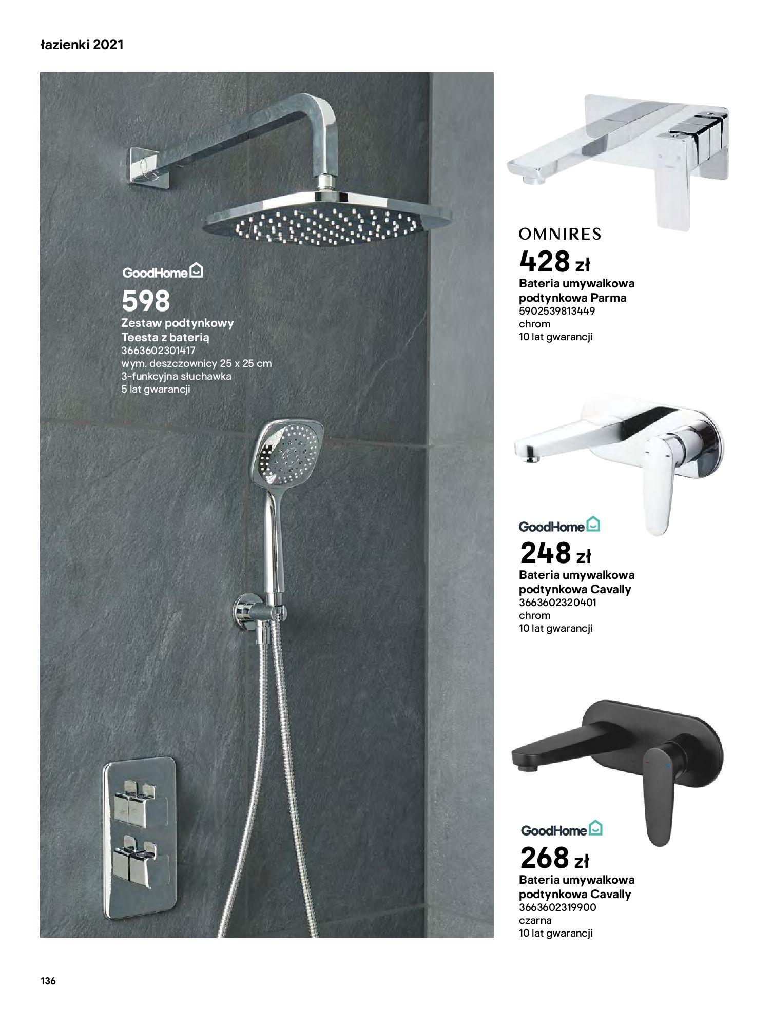 Gazetka Castorama: Gazetka Castorama - katalog łazienki 2021 2021-06-16 page-136