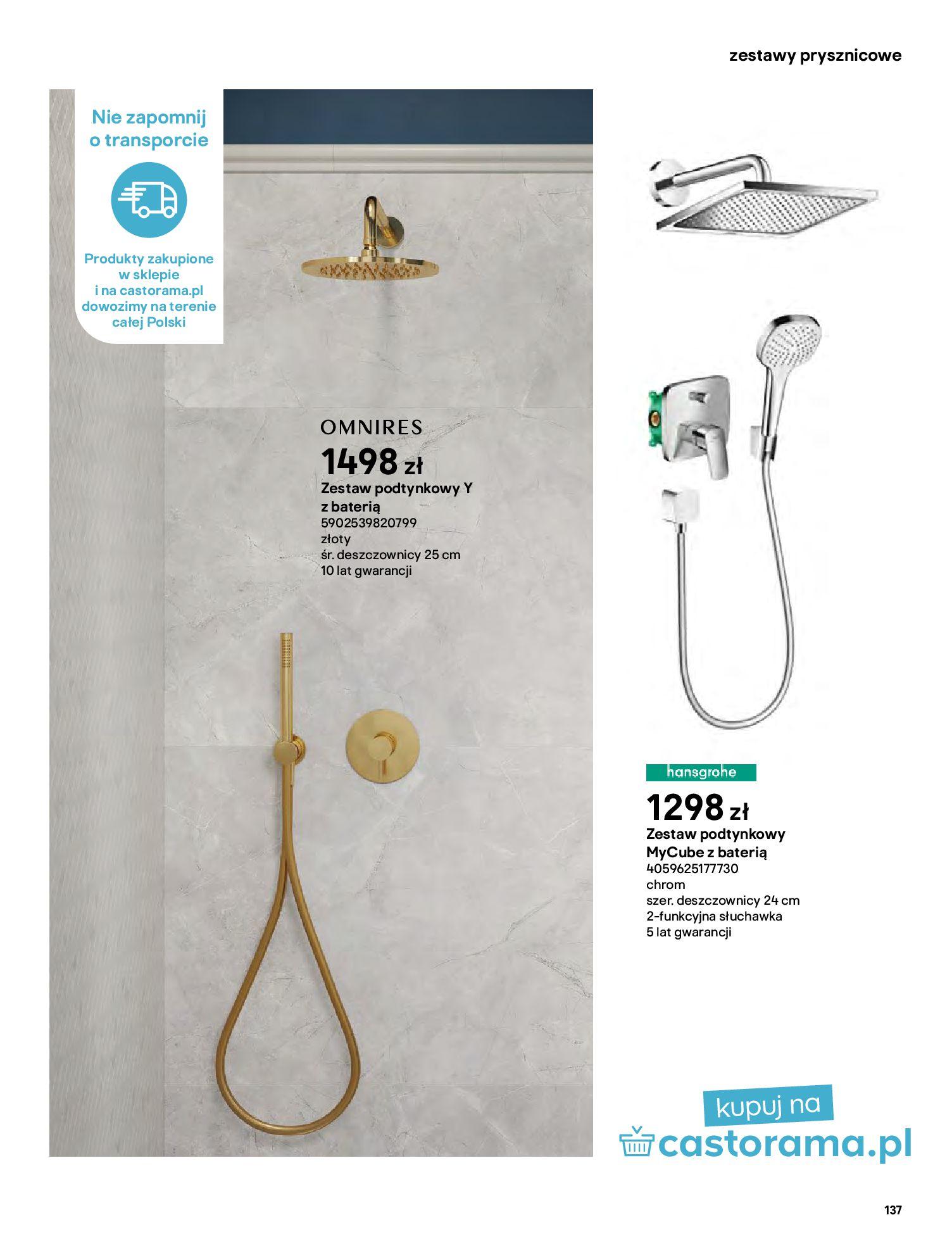 Gazetka Castorama: Gazetka Castorama - katalog łazienki 2021 2021-06-16 page-137