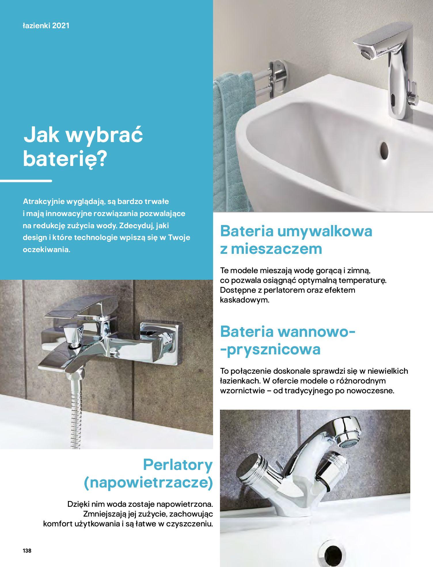 Gazetka Castorama: Gazetka Castorama - katalog łazienki 2021 2021-06-16 page-138