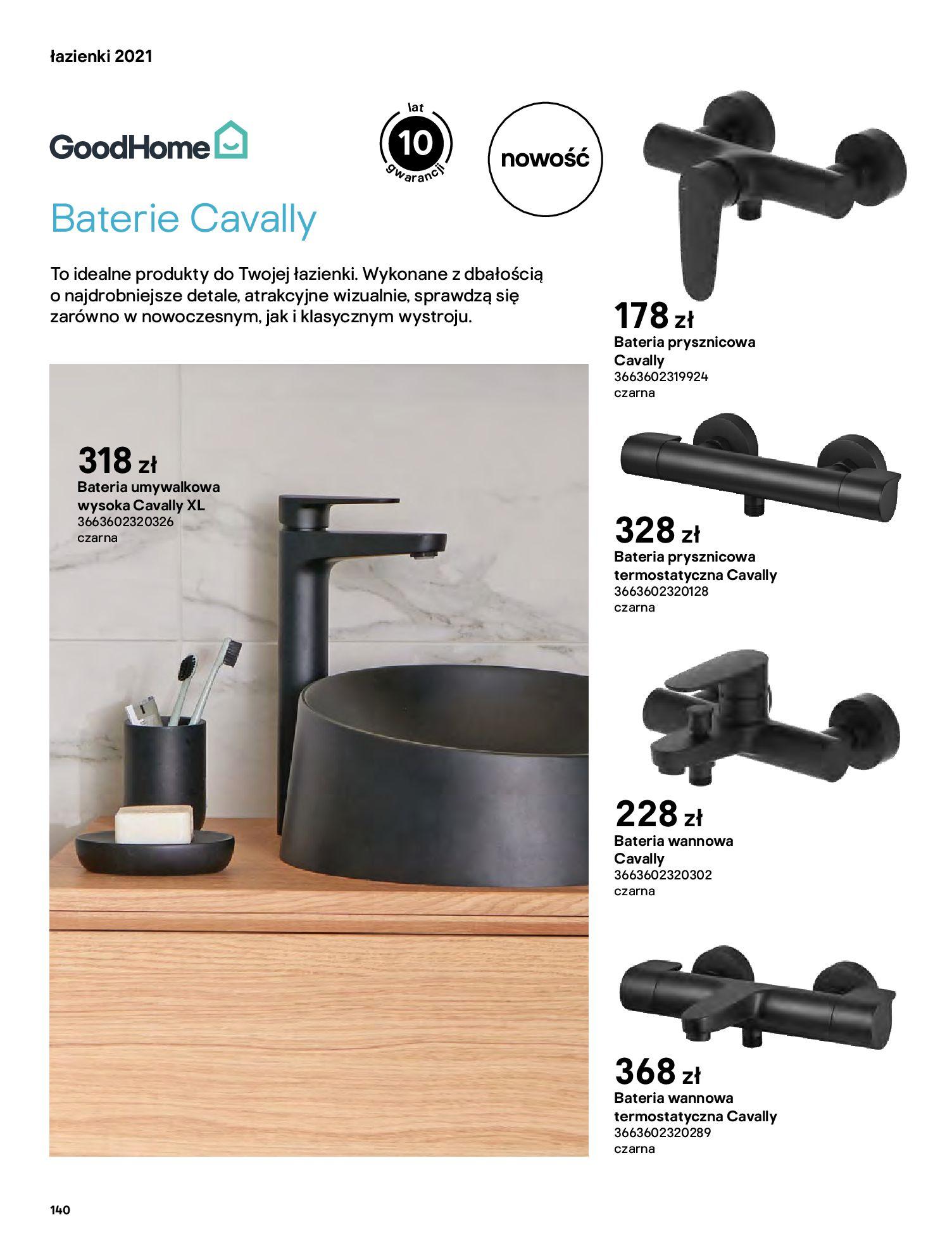 Gazetka Castorama: Gazetka Castorama - katalog łazienki 2021 2021-06-16 page-140