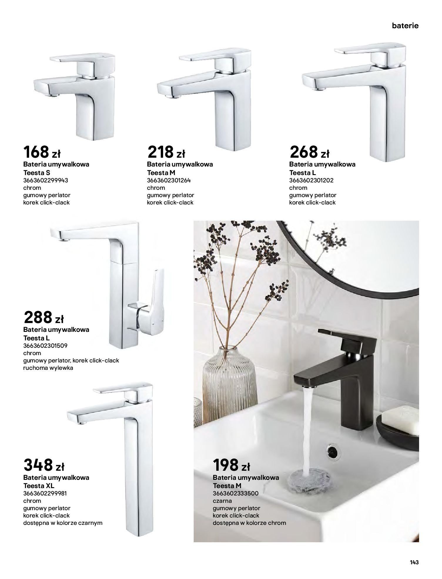 Gazetka Castorama: Gazetka Castorama - katalog łazienki 2021 2021-06-16 page-143