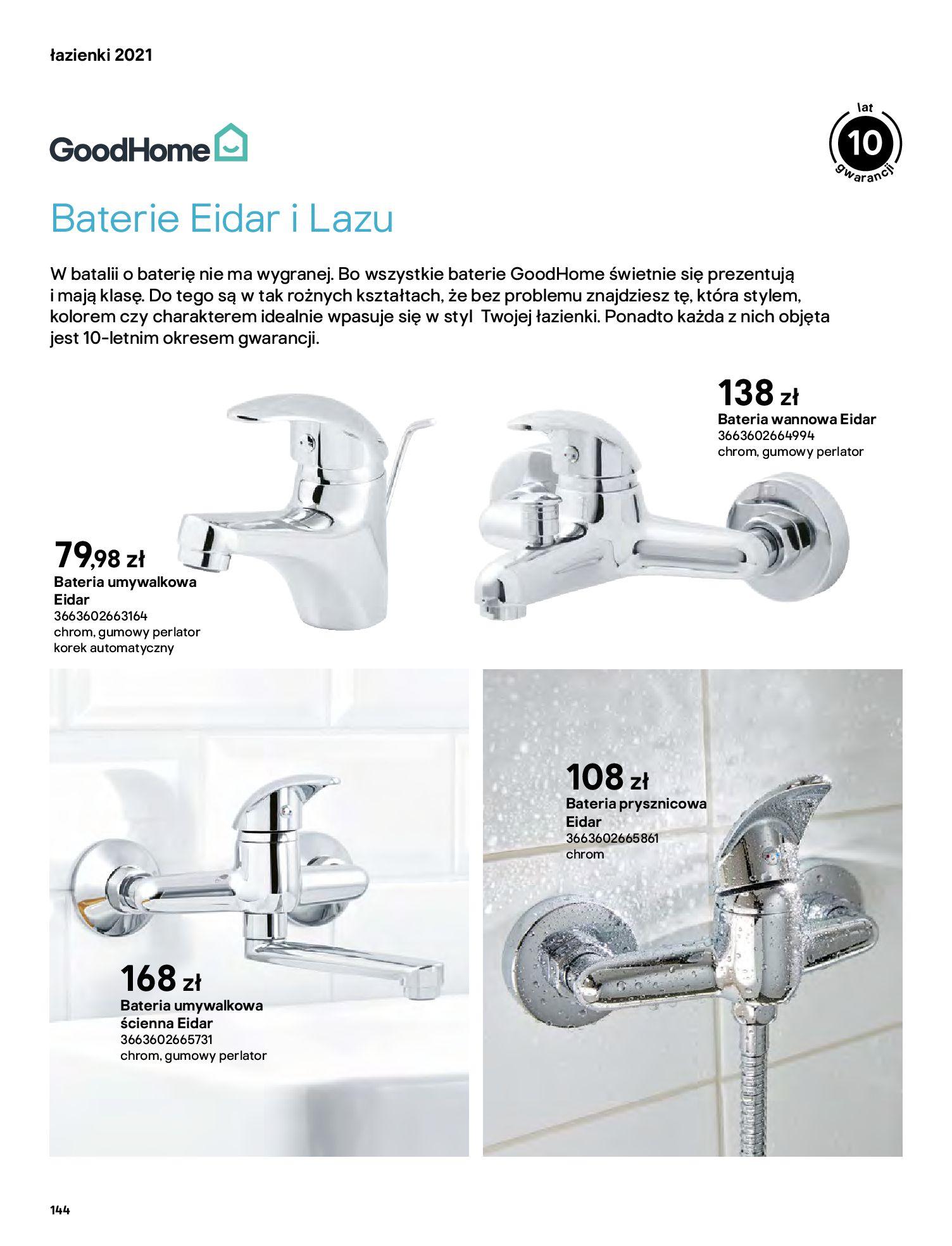 Gazetka Castorama: Gazetka Castorama - katalog łazienki 2021 2021-06-16 page-144