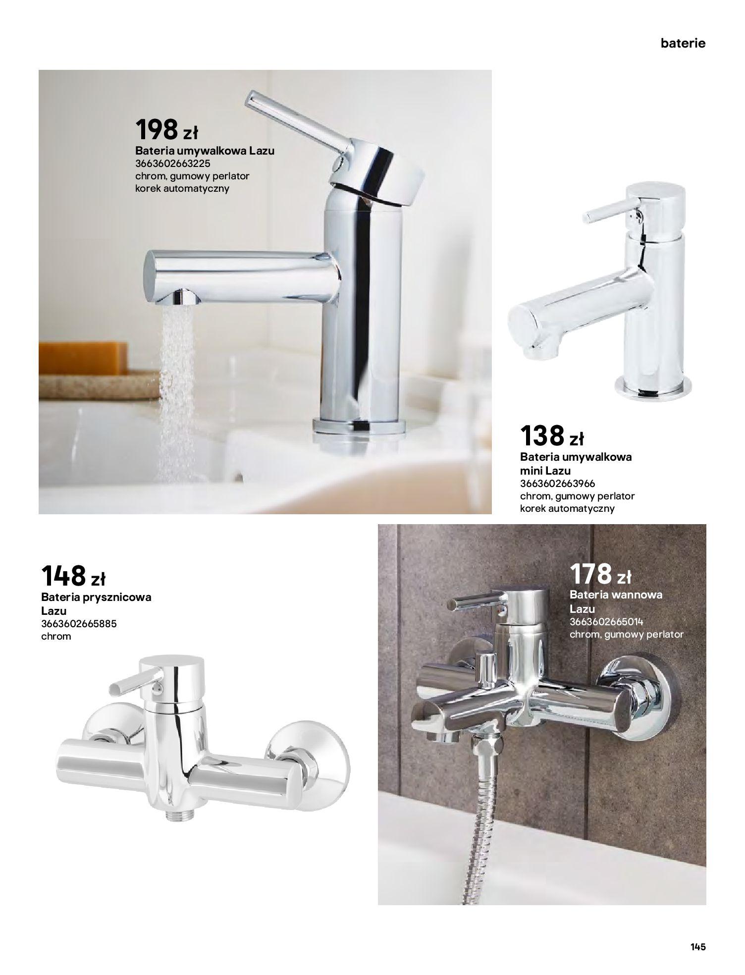 Gazetka Castorama: Gazetka Castorama - katalog łazienki 2021 2021-06-16 page-145