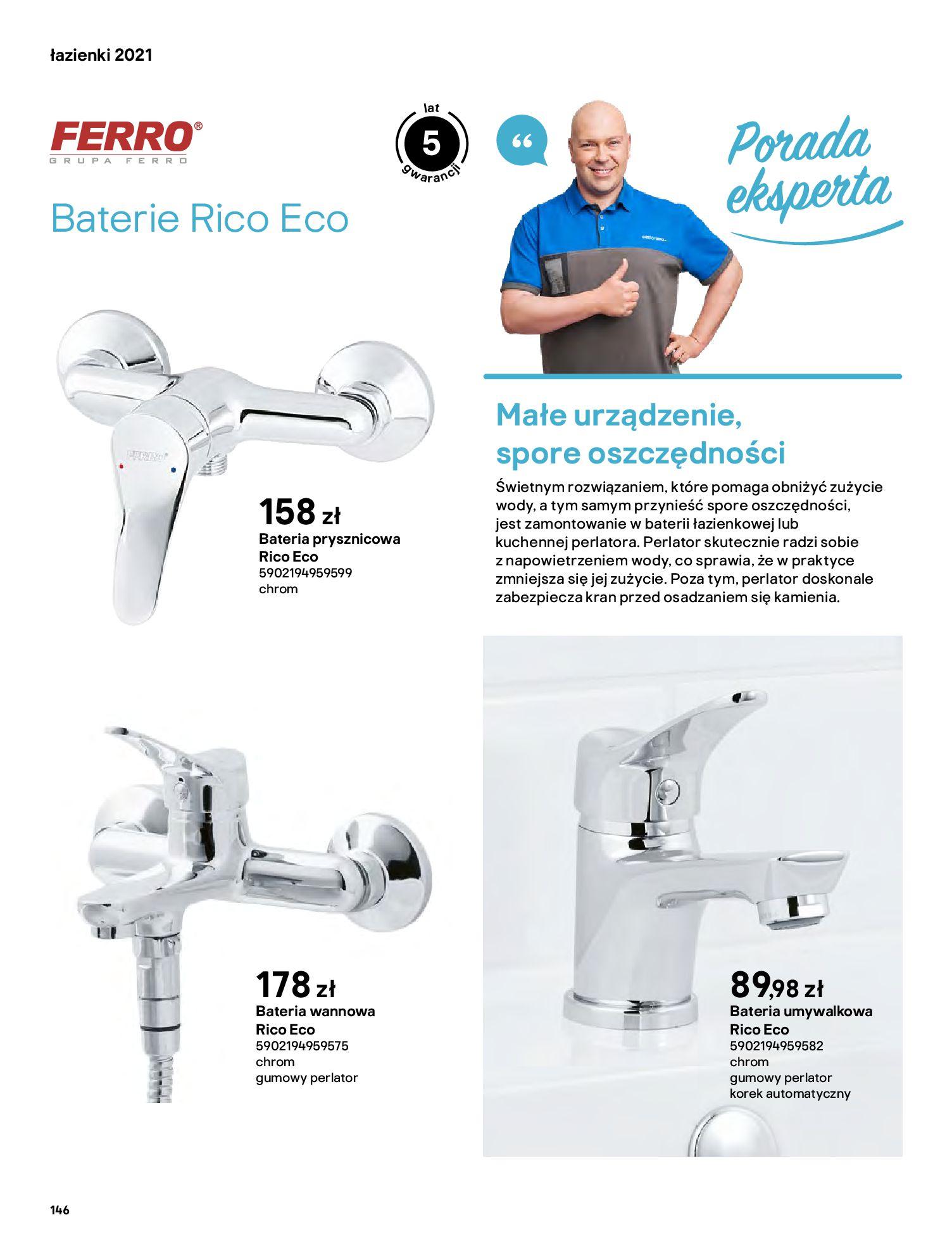 Gazetka Castorama: Gazetka Castorama - katalog łazienki 2021 2021-06-16 page-146
