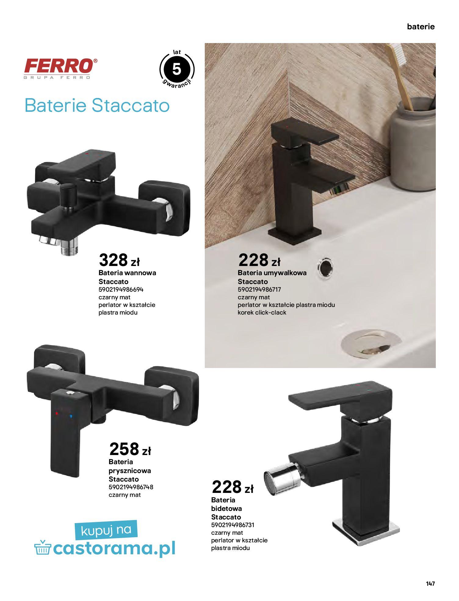 Gazetka Castorama: Gazetka Castorama - katalog łazienki 2021 2021-06-16 page-147