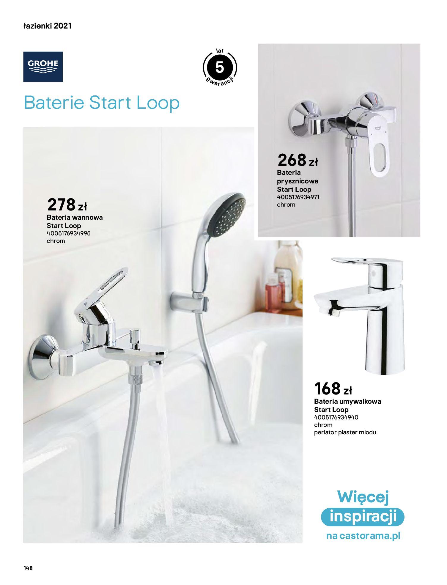 Gazetka Castorama: Gazetka Castorama - katalog łazienki 2021 2021-06-16 page-148