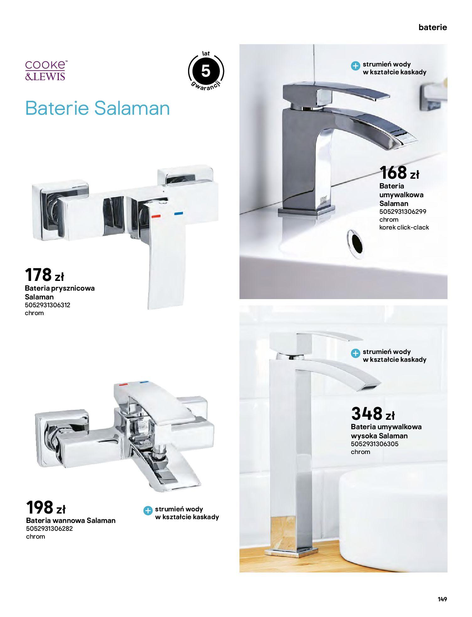 Gazetka Castorama: Gazetka Castorama - katalog łazienki 2021 2021-06-16 page-149