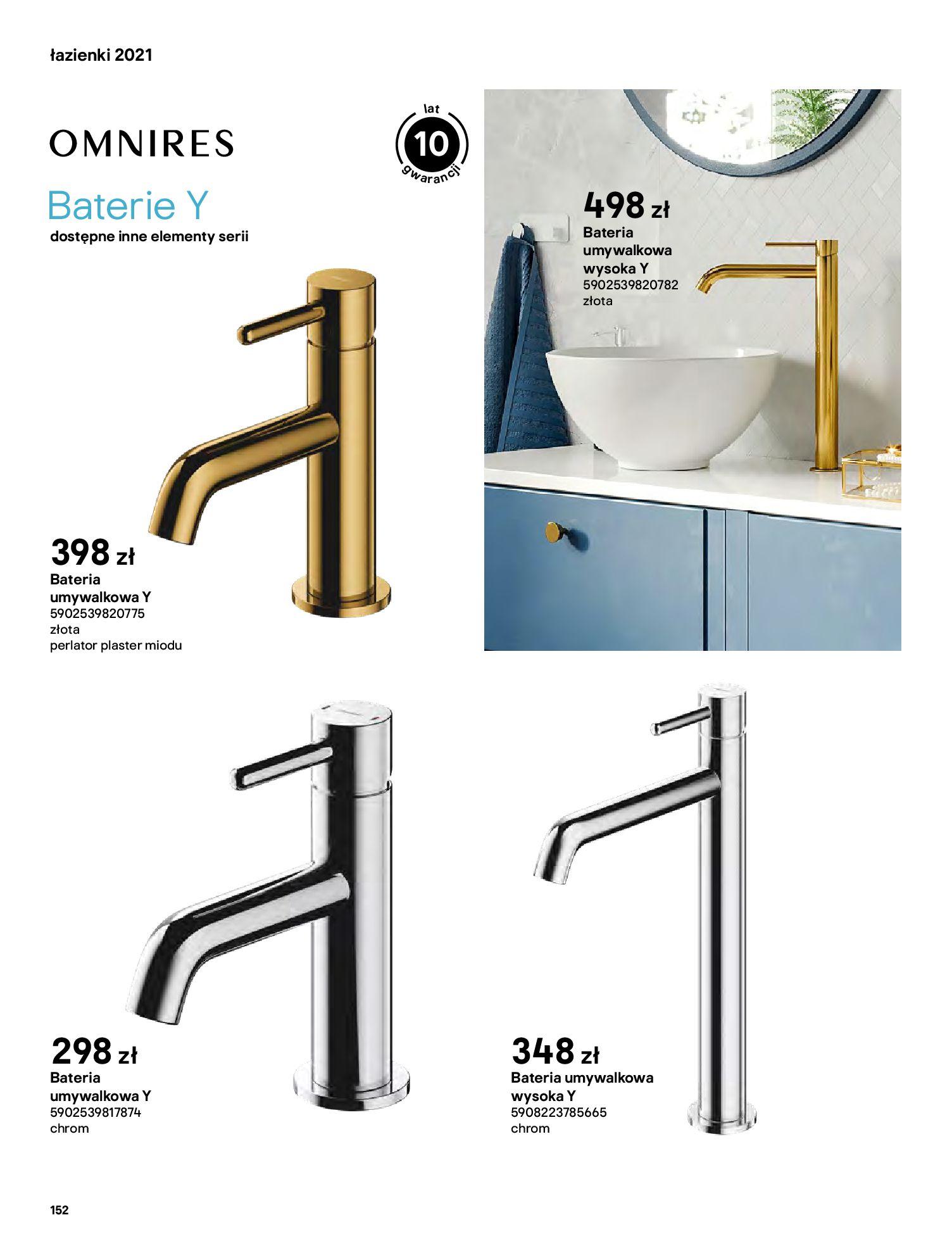 Gazetka Castorama: Gazetka Castorama - katalog łazienki 2021 2021-06-16 page-152