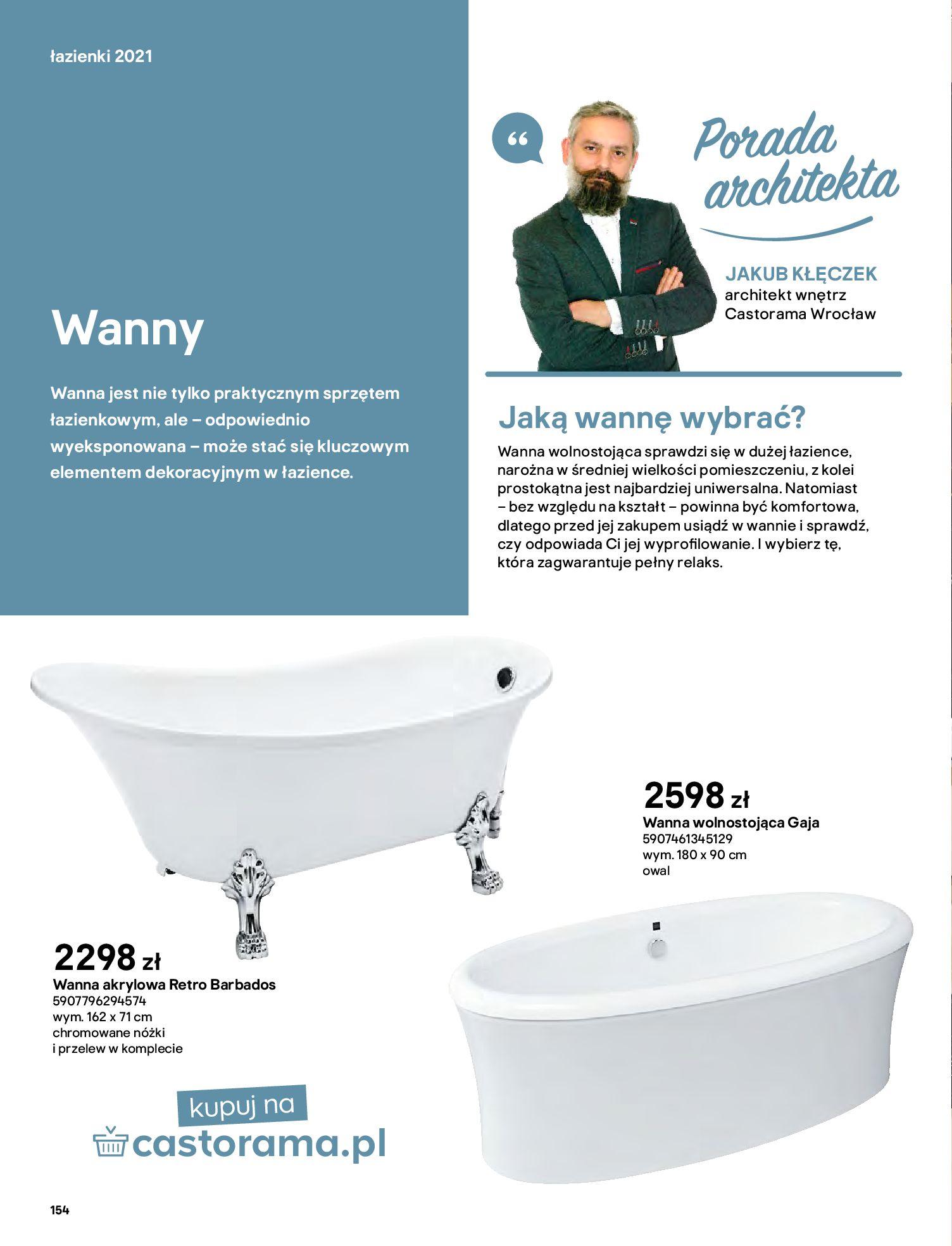 Gazetka Castorama: Gazetka Castorama - katalog łazienki 2021 2021-06-16 page-154