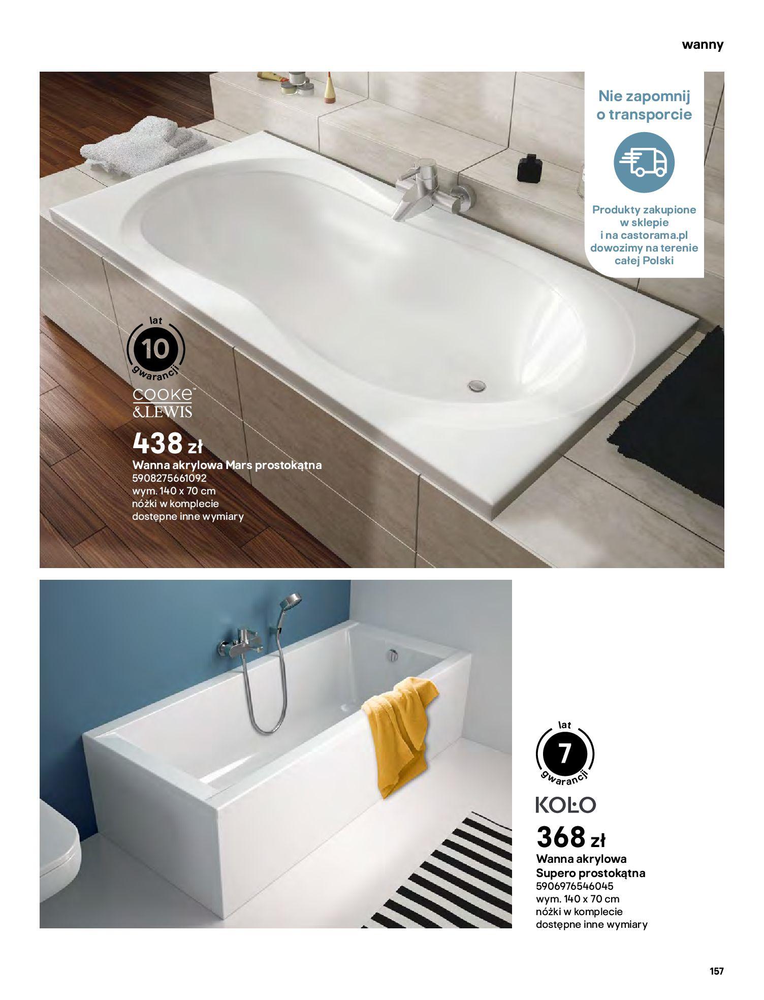Gazetka Castorama: Gazetka Castorama - katalog łazienki 2021 2021-06-16 page-157