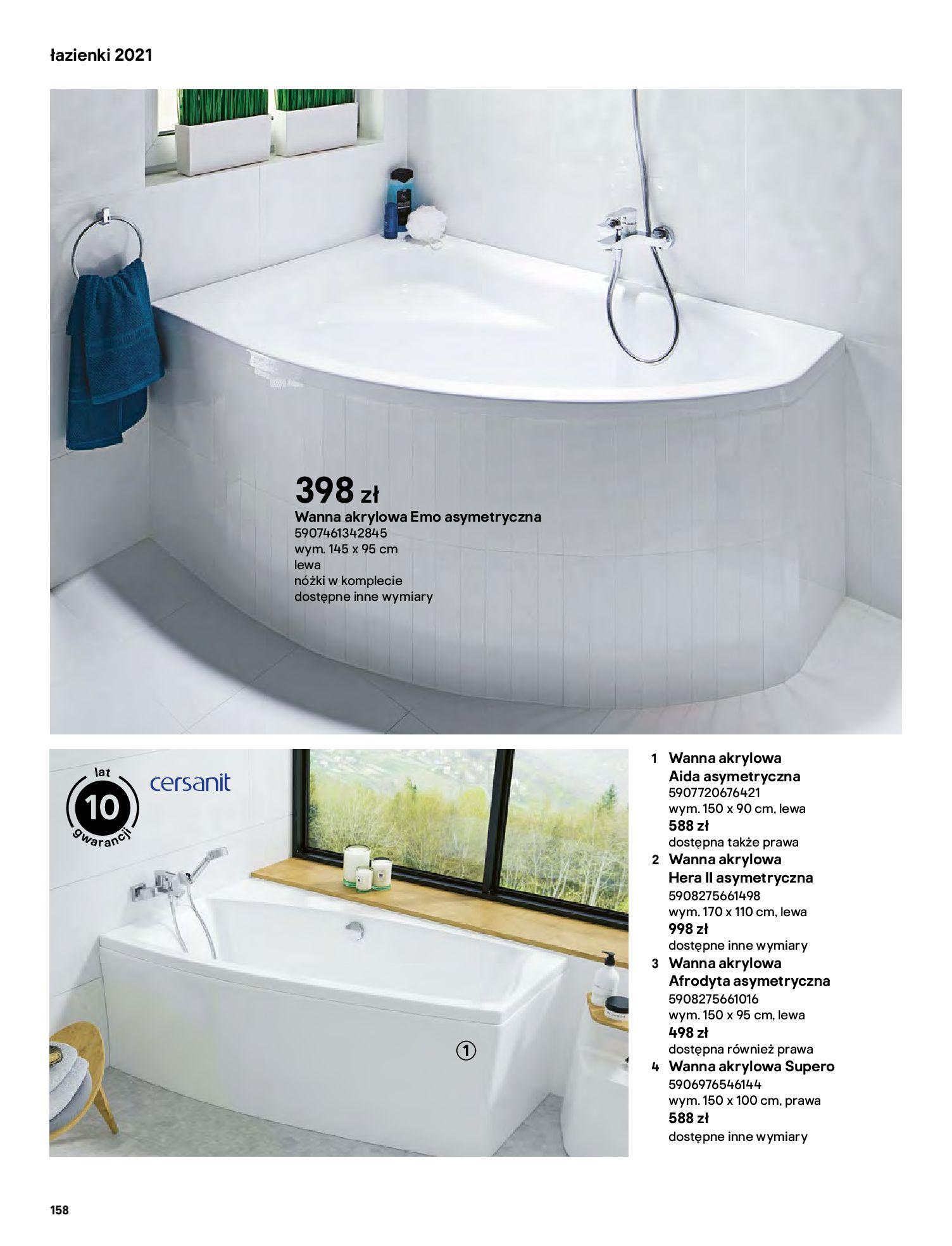 Gazetka Castorama: Gazetka Castorama - katalog łazienki 2021 2021-06-16 page-158