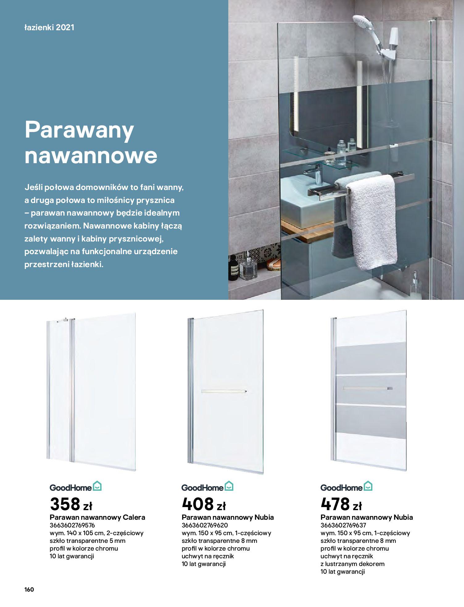 Gazetka Castorama: Gazetka Castorama - katalog łazienki 2021 2021-06-16 page-160