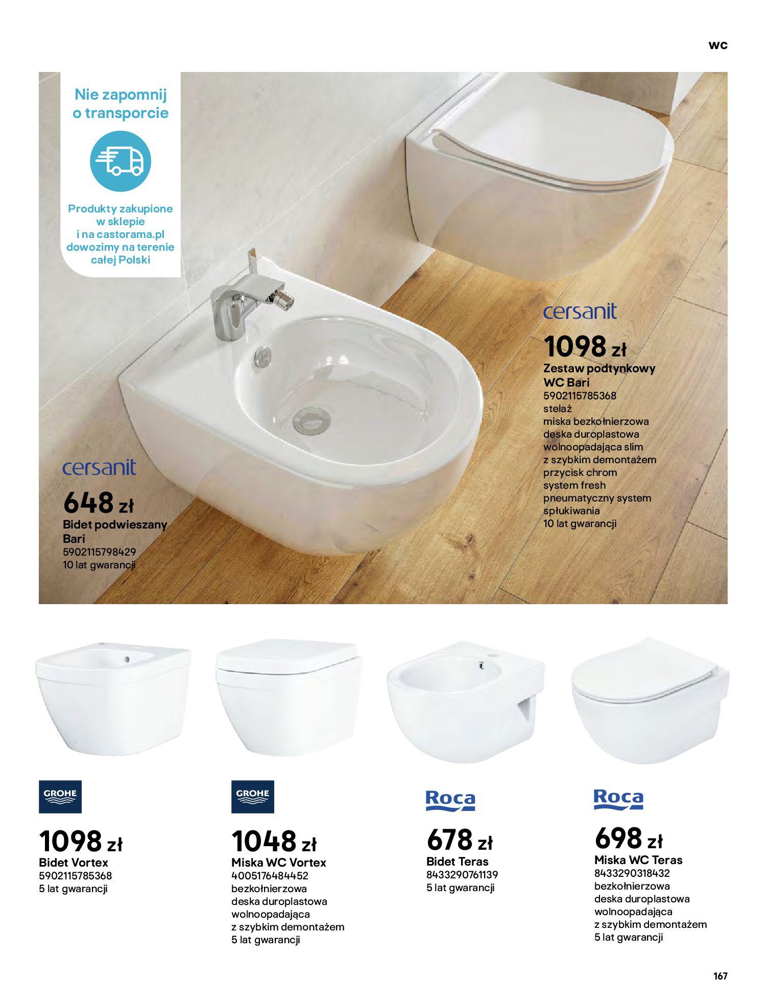 Gazetka Castorama: Gazetka Castorama - katalog łazienki 2021 2021-06-16 page-167