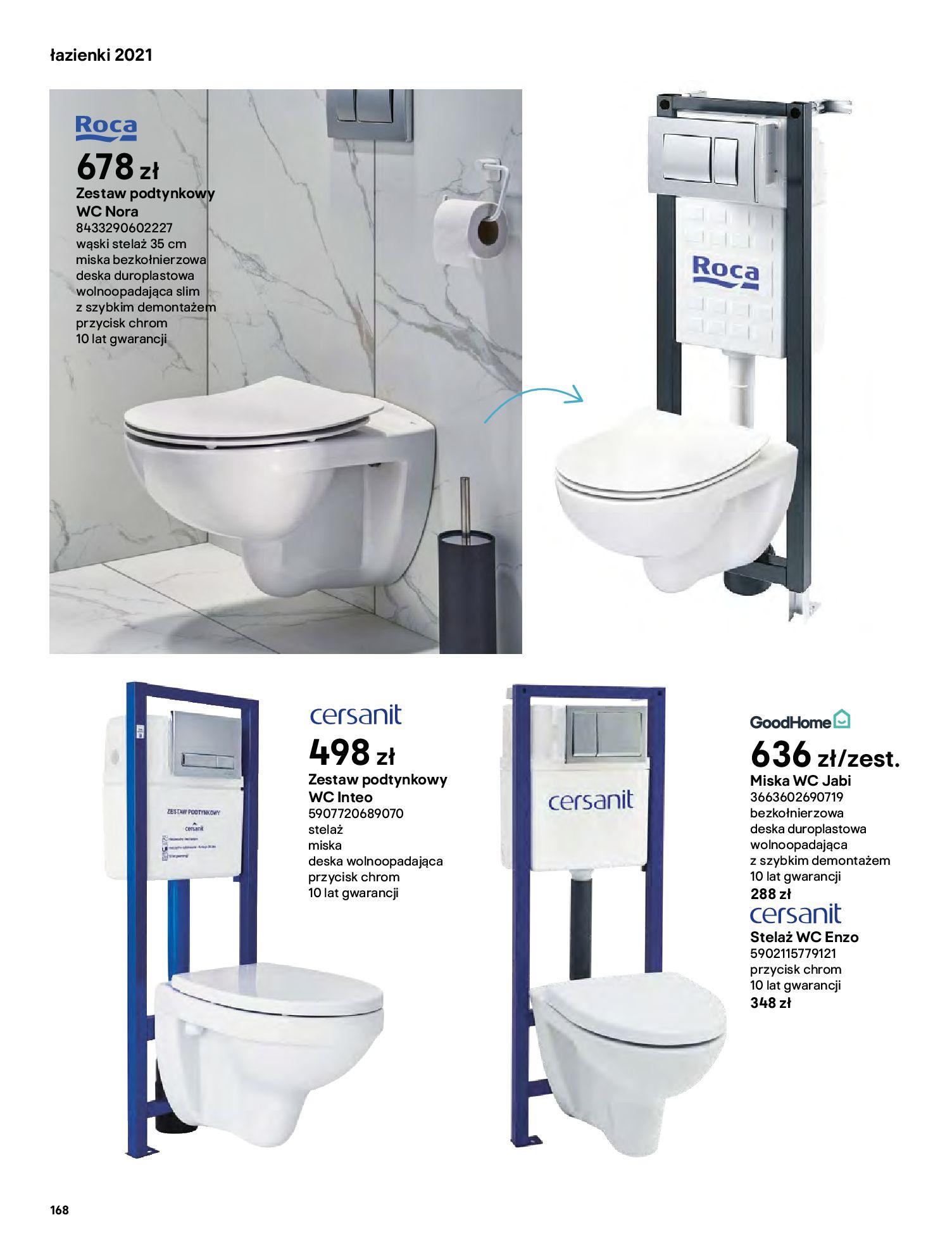 Gazetka Castorama: Gazetka Castorama - katalog łazienki 2021 2021-06-16 page-168