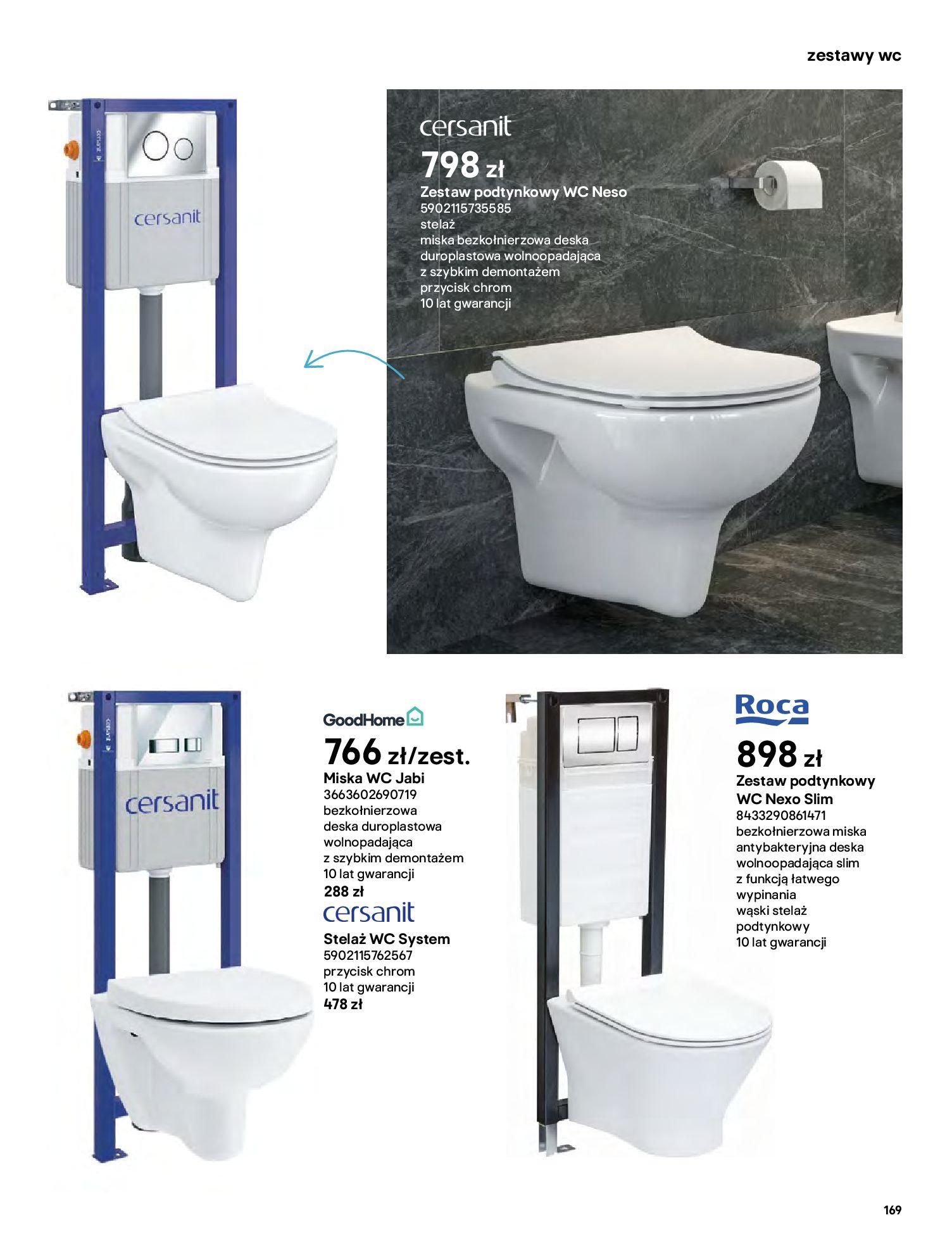 Gazetka Castorama: Gazetka Castorama - katalog łazienki 2021 2021-06-16 page-169