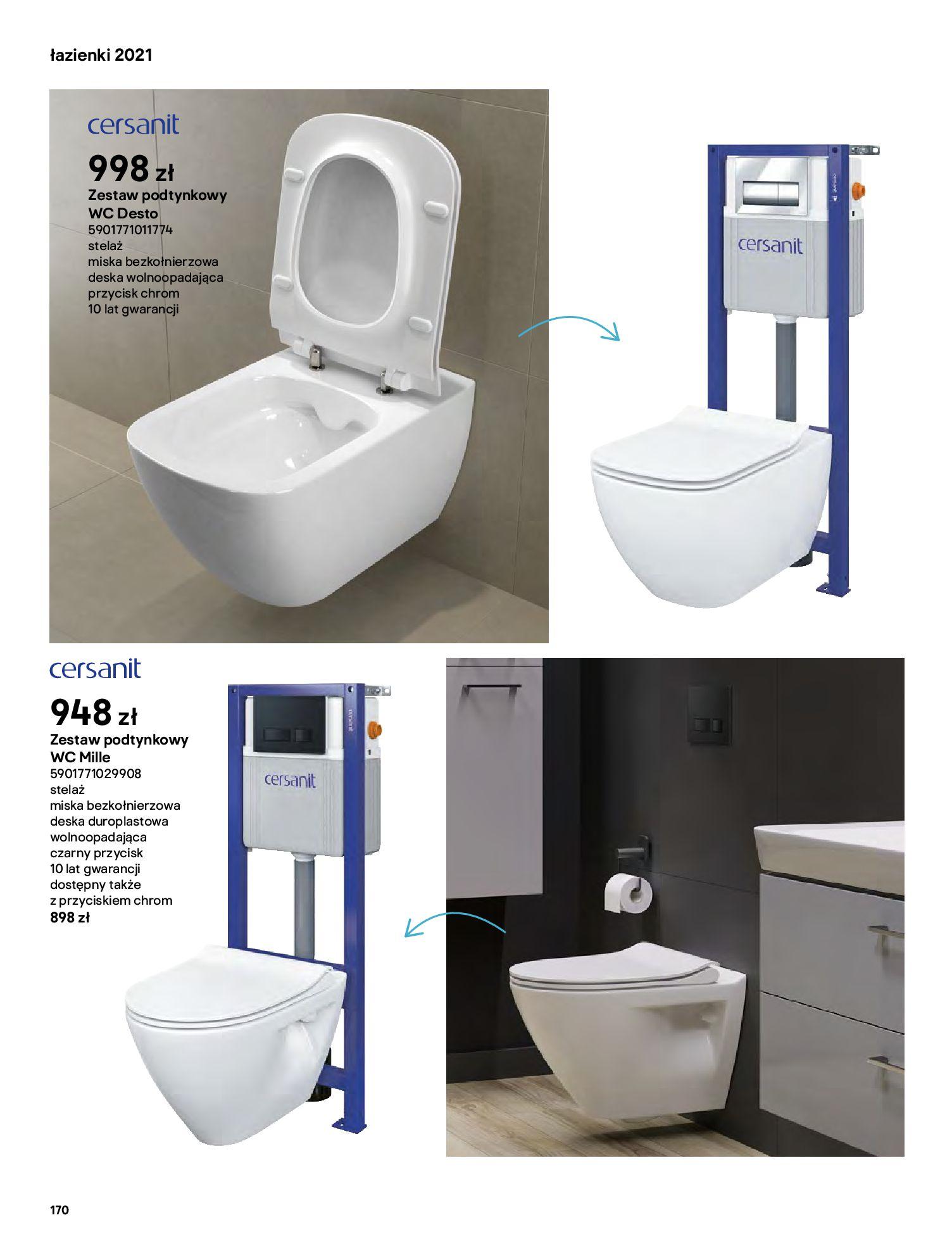 Gazetka Castorama: Gazetka Castorama - katalog łazienki 2021 2021-06-16 page-170