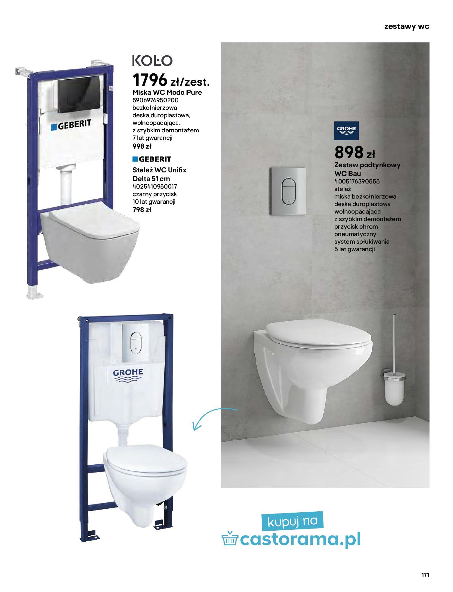 Gazetka Castorama: Gazetka Castorama - katalog łazienki 2021 2021-06-16 page-171