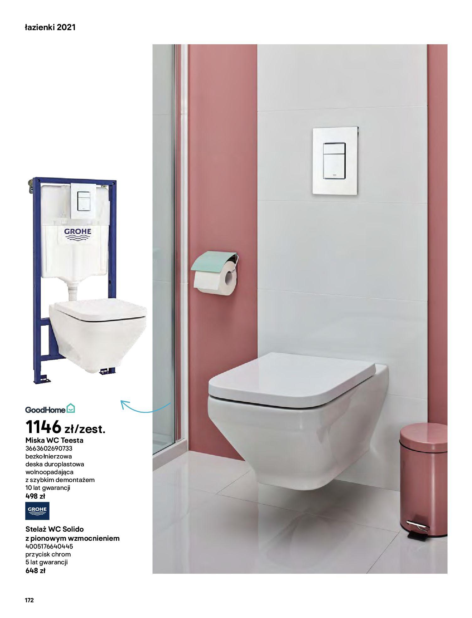 Gazetka Castorama: Gazetka Castorama - katalog łazienki 2021 2021-06-16 page-172