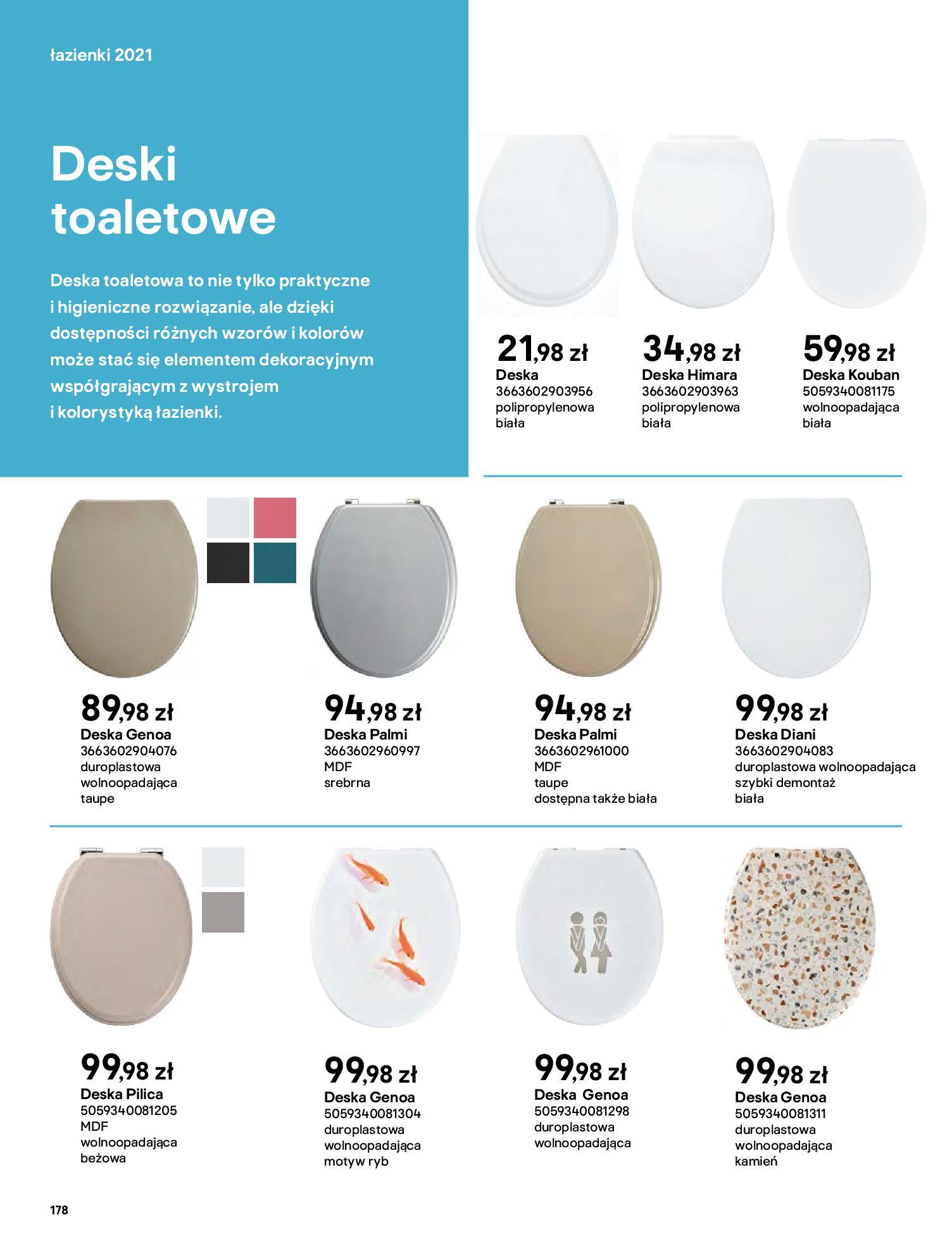 Gazetka Castorama: Gazetka Castorama - katalog łazienki 2021 2021-06-16 page-178