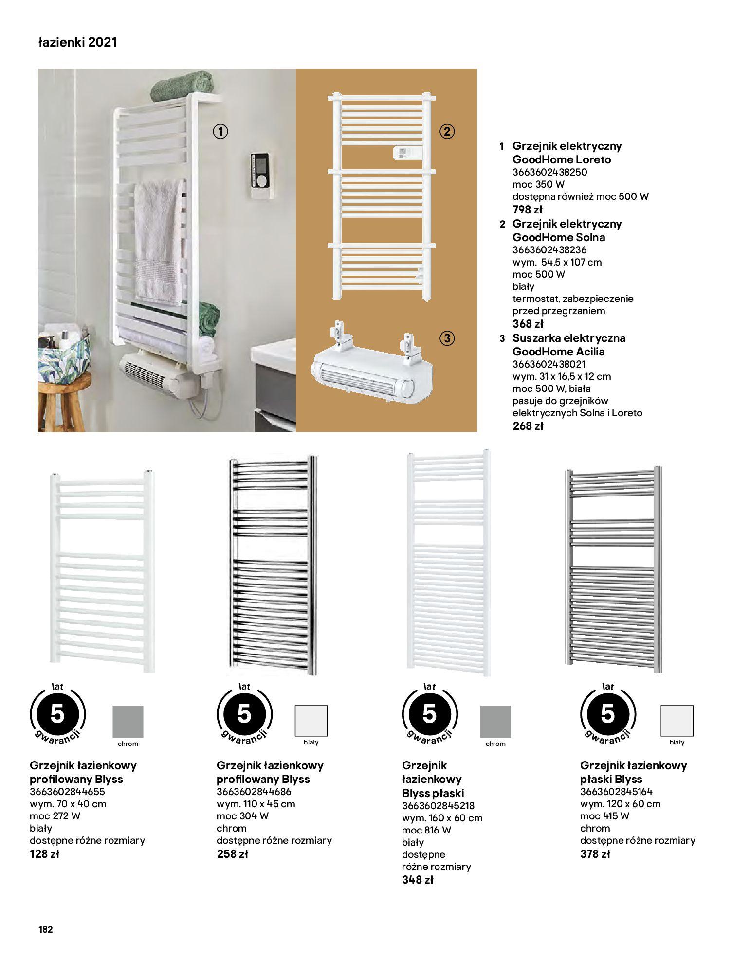Gazetka Castorama: Gazetka Castorama - katalog łazienki 2021 2021-06-16 page-182