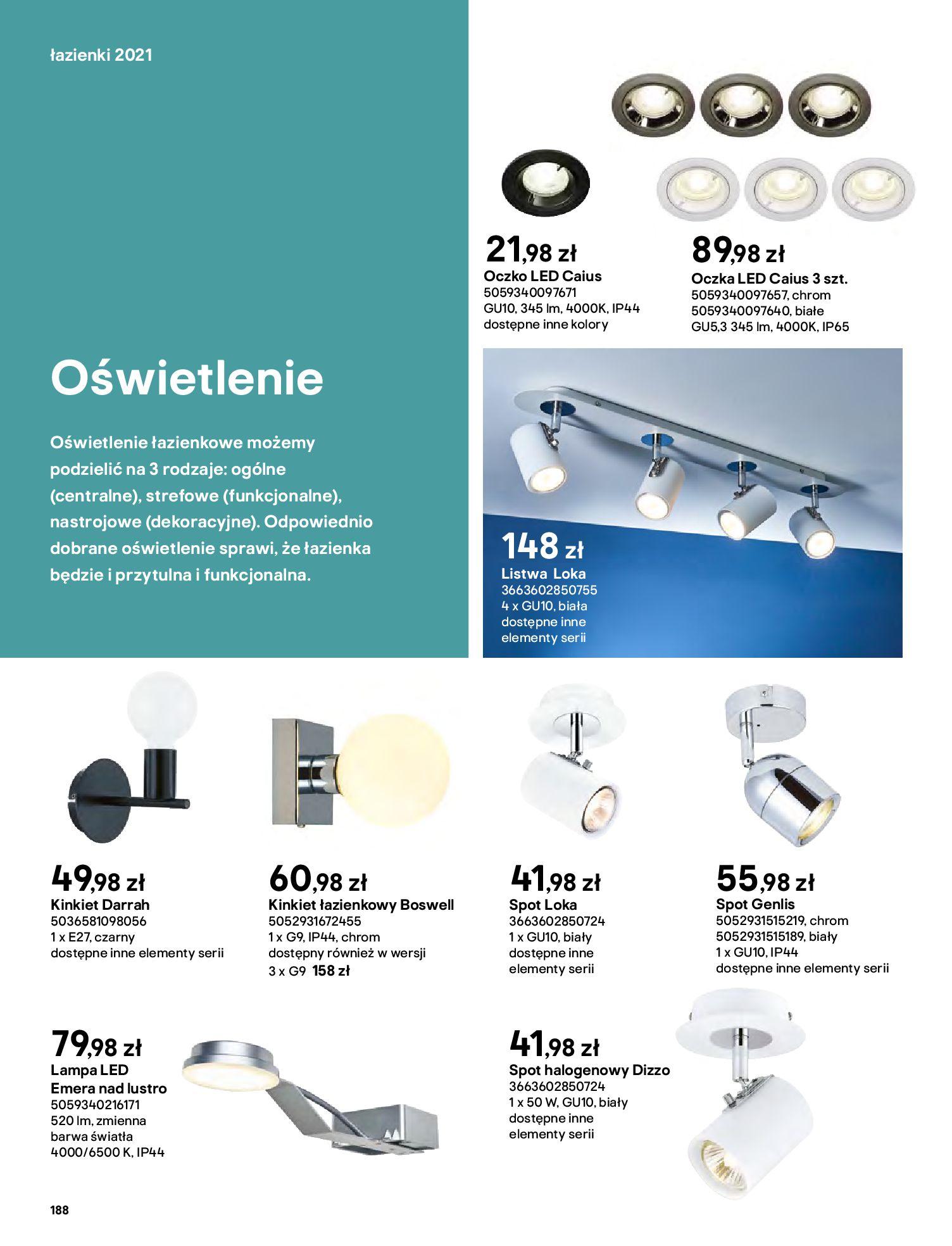 Gazetka Castorama: Gazetka Castorama - katalog łazienki 2021 2021-06-16 page-188