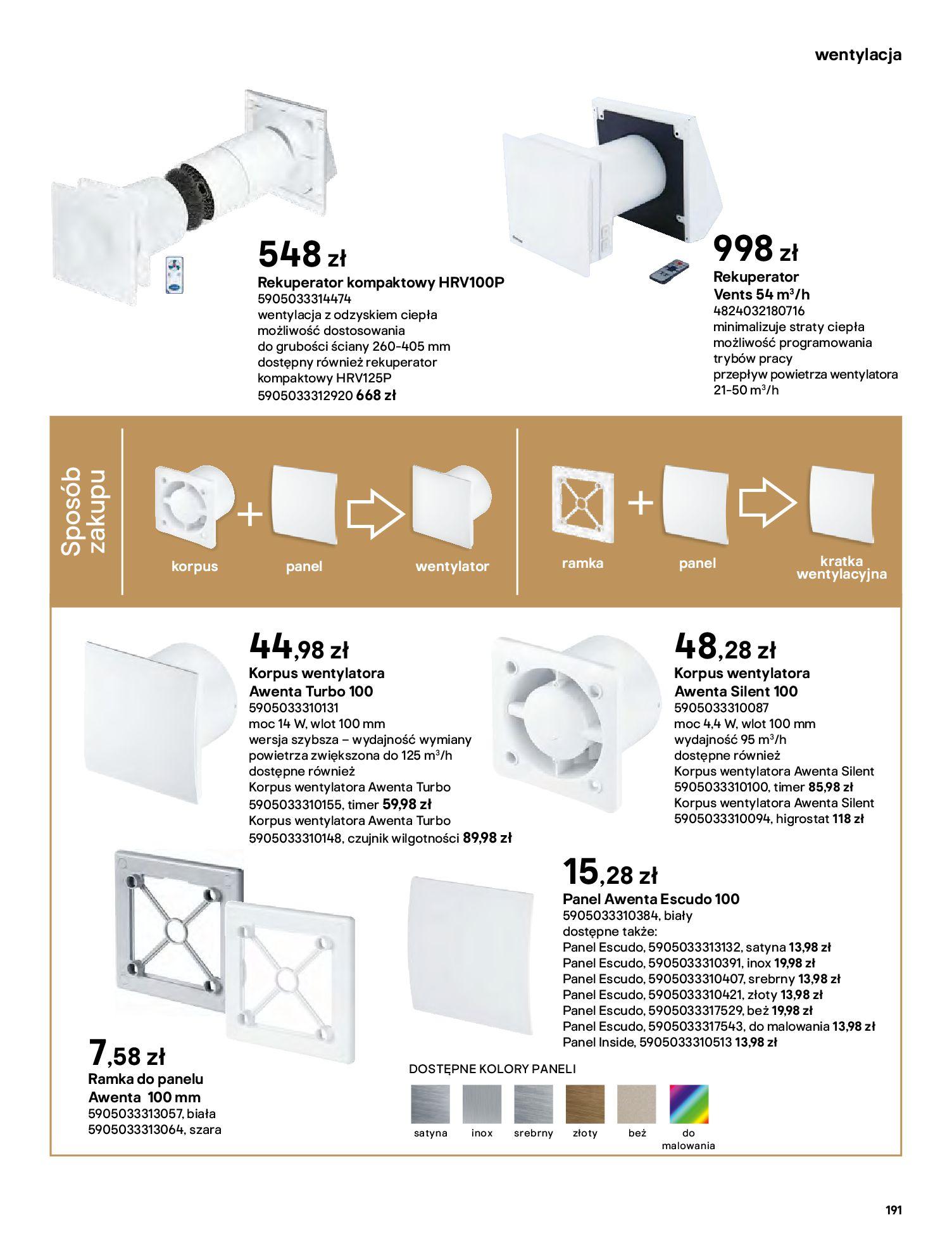 Gazetka Castorama: Gazetka Castorama - katalog łazienki 2021 2021-06-16 page-191