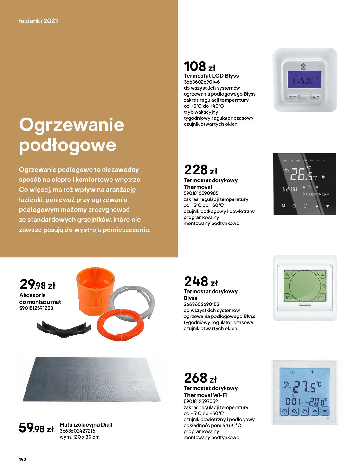 Gazetka Castorama: Gazetka Castorama - katalog łazienki 2021 2021-06-16 page-192