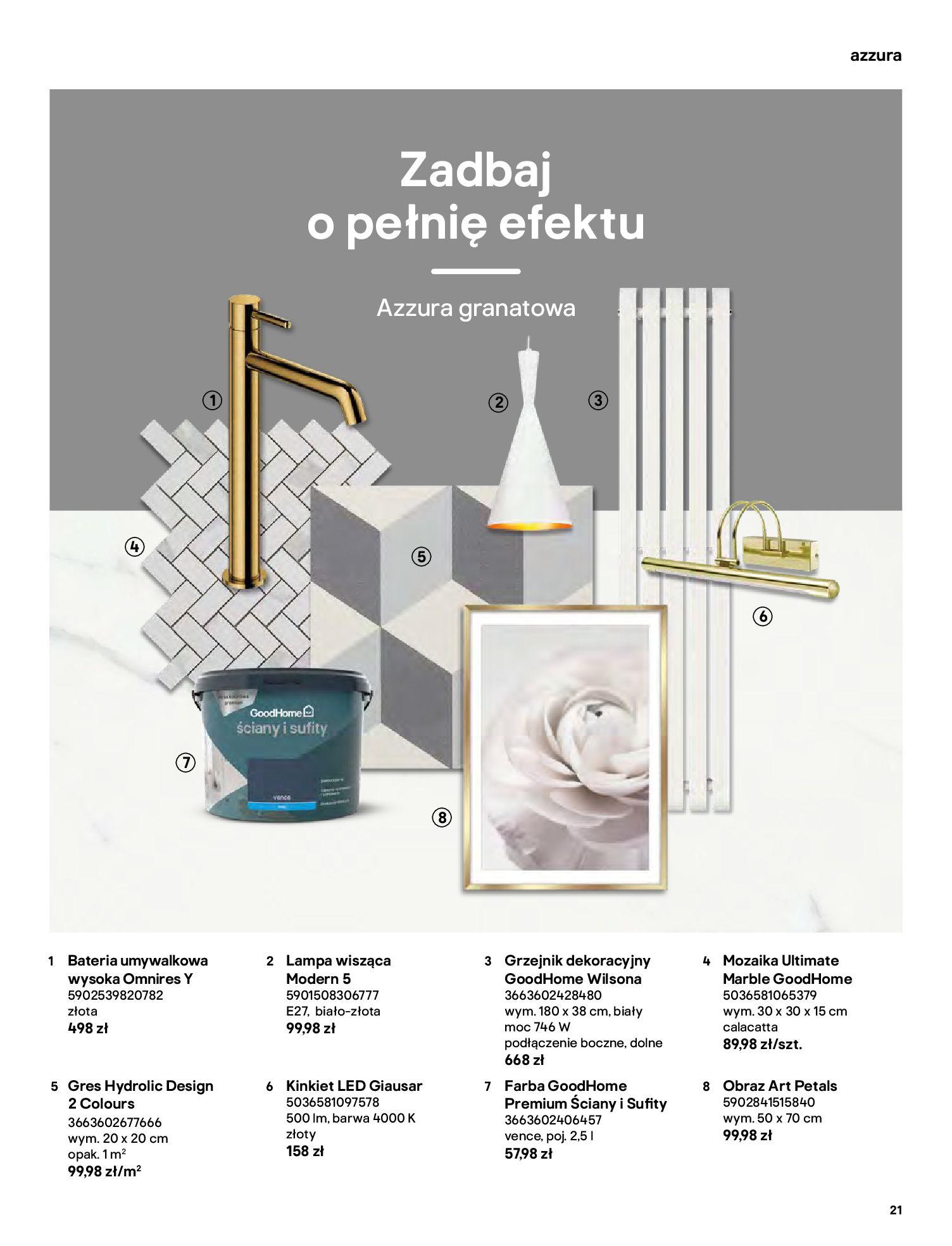 Gazetka Castorama: Gazetka Castorama - katalog łazienki 2021 2021-06-16 page-21