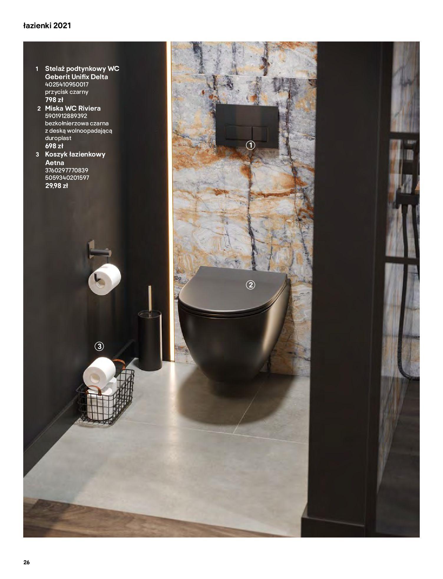 Gazetka Castorama: Gazetka Castorama - katalog łazienki 2021 2021-06-16 page-26