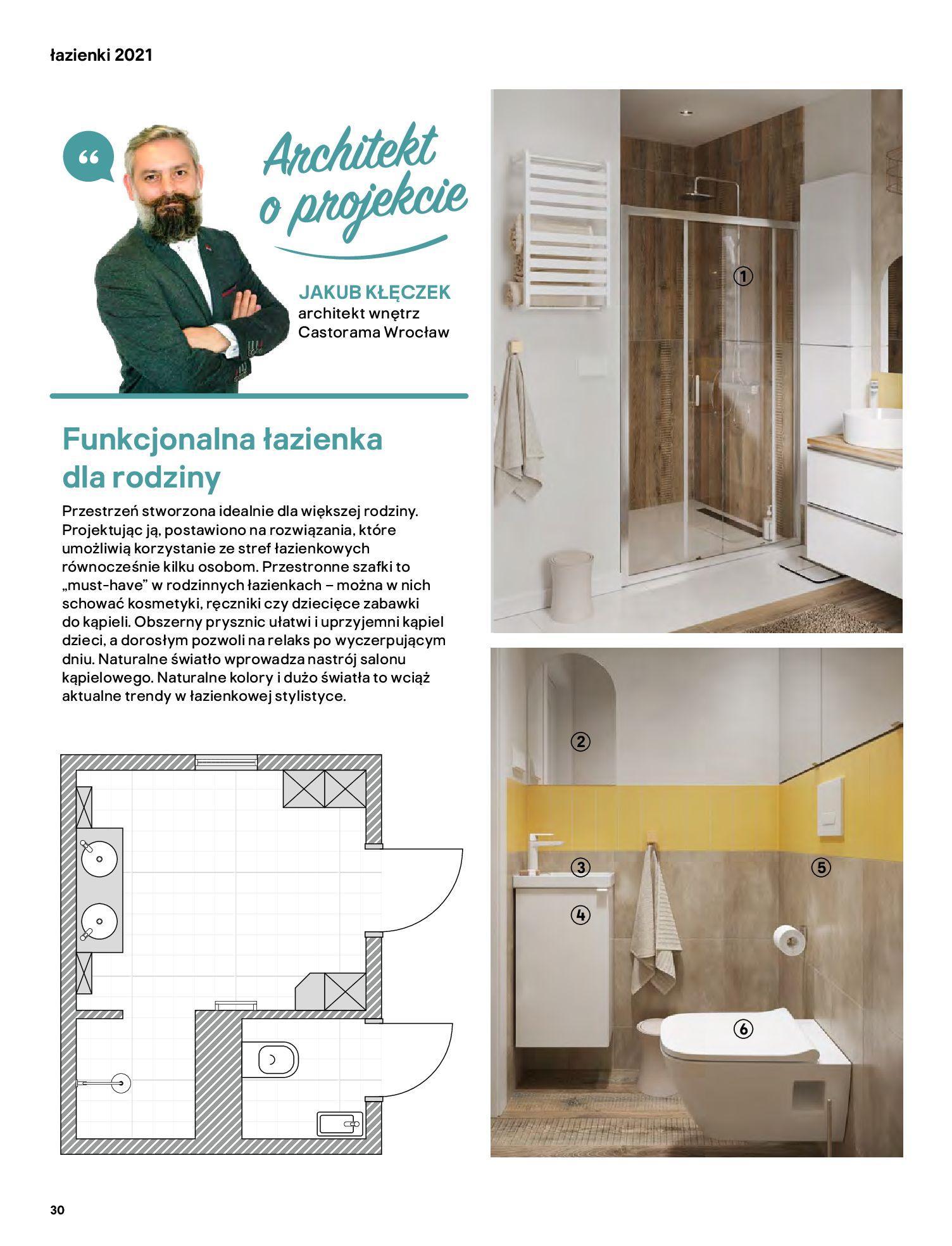 Gazetka Castorama: Gazetka Castorama - katalog łazienki 2021 2021-06-16 page-30