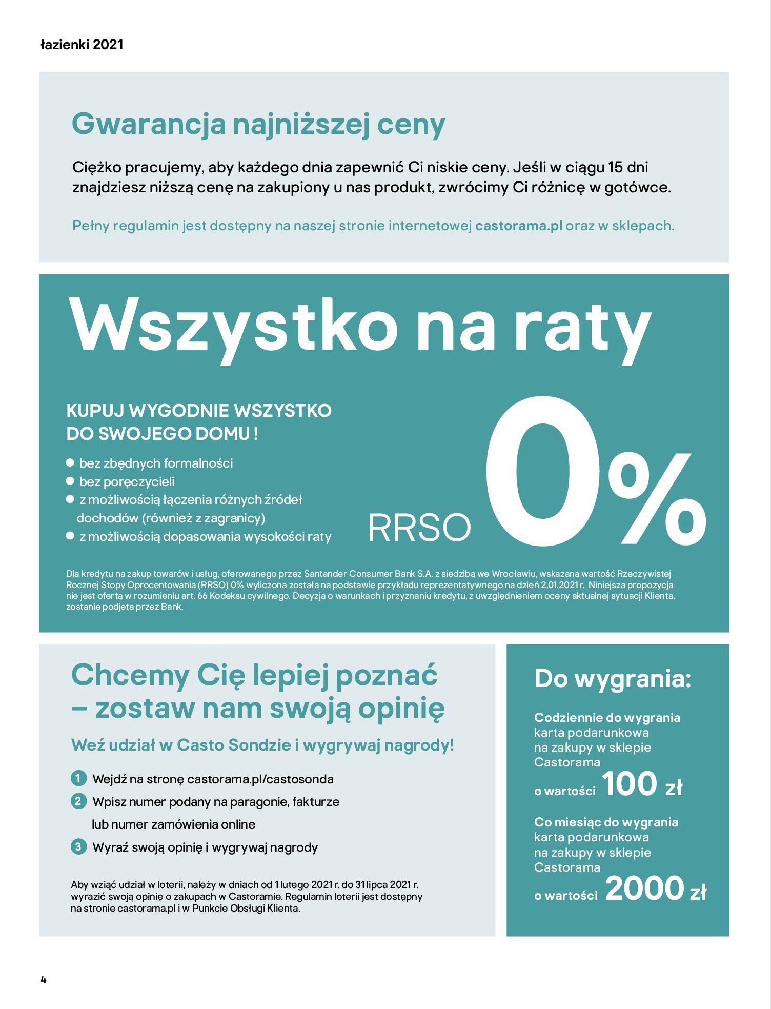 Gazetka Castorama: Gazetka Castorama - katalog łazienki 2021 2021-06-16 page-4