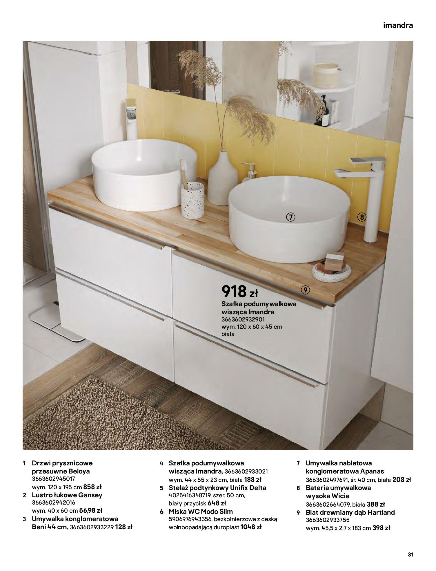 Gazetka Castorama: Gazetka Castorama - katalog łazienki 2021 2021-06-16 page-31