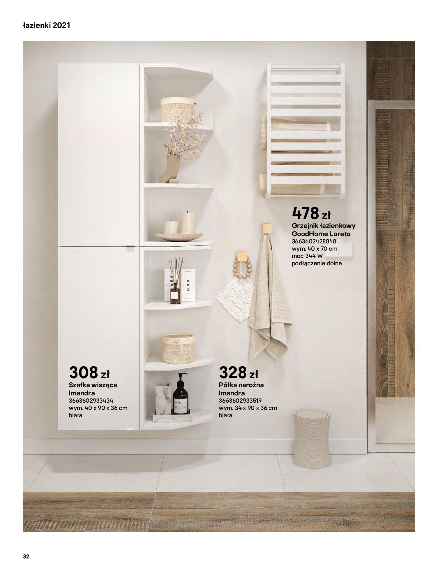 Gazetka Castorama: Gazetka Castorama - katalog łazienki 2021 2021-06-16 page-32