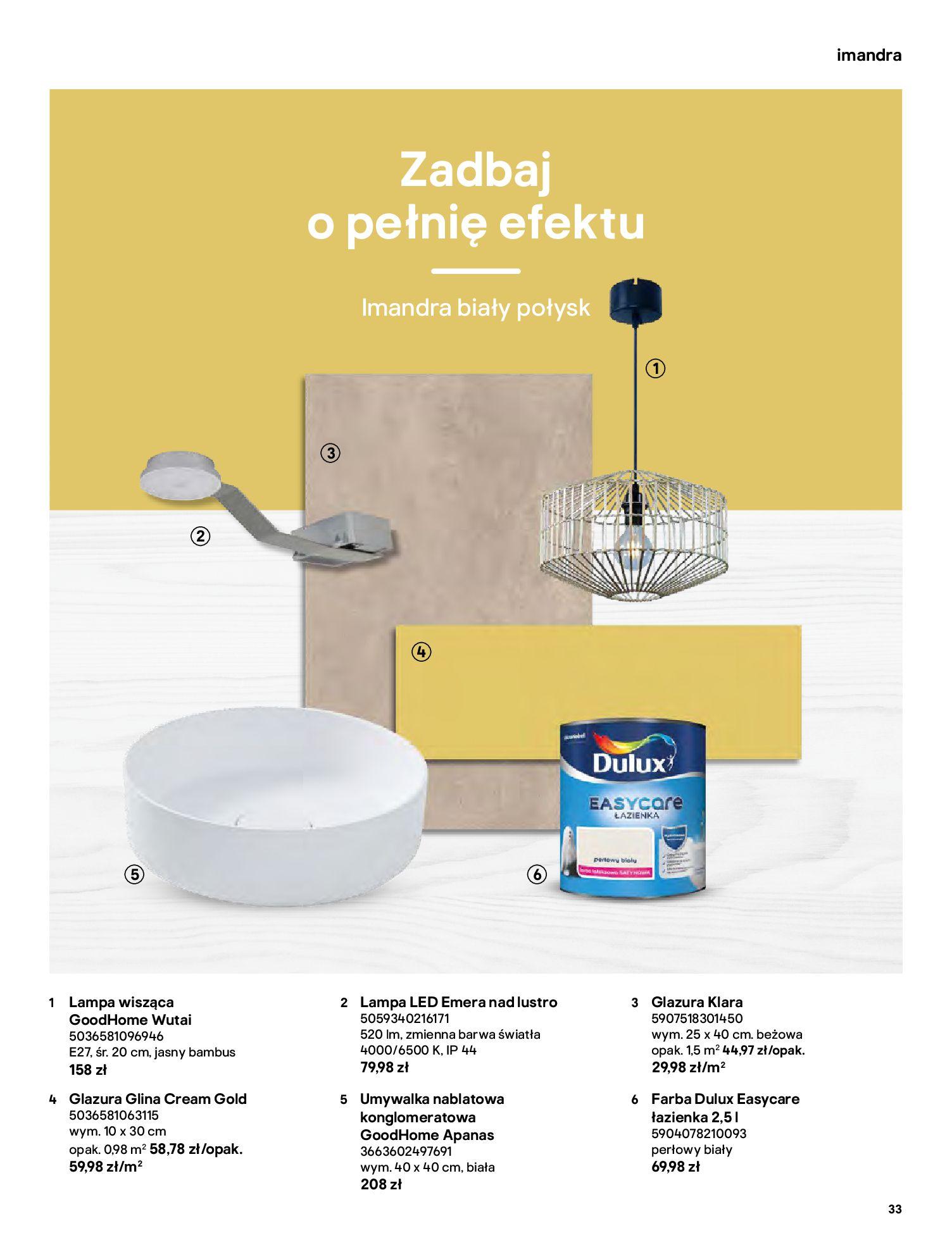 Gazetka Castorama: Gazetka Castorama - katalog łazienki 2021 2021-06-16 page-33