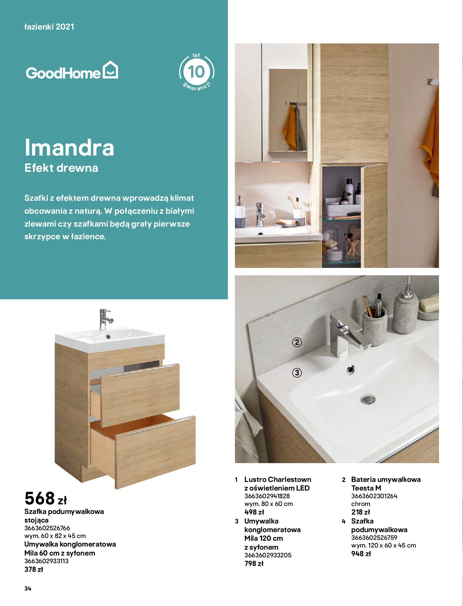 Gazetka Castorama: Gazetka Castorama - katalog łazienki 2021 2021-06-16 page-34