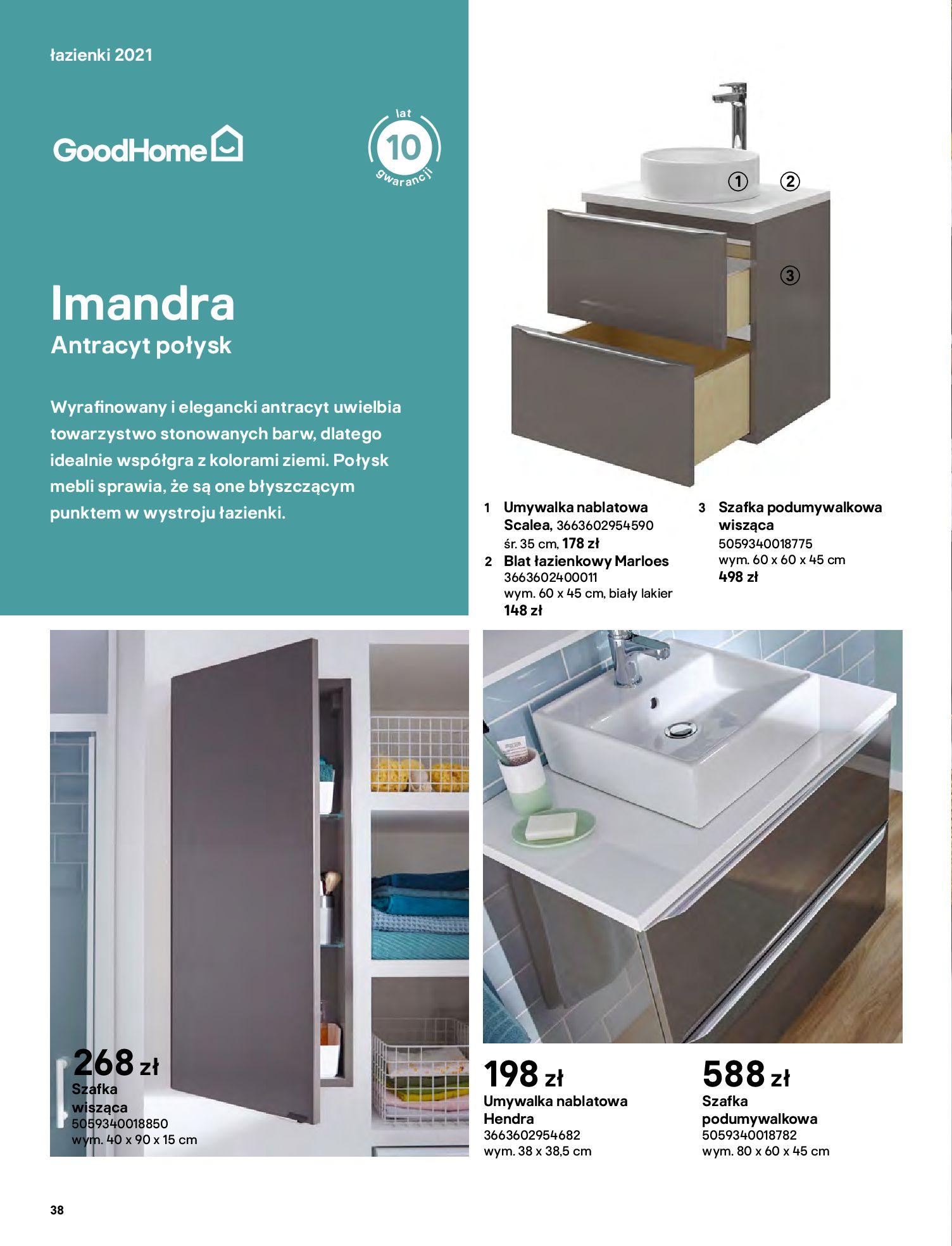 Gazetka Castorama: Gazetka Castorama - katalog łazienki 2021 2021-06-16 page-38