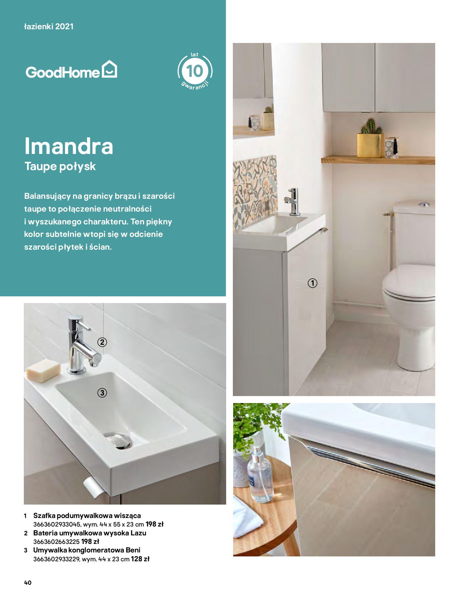 Gazetka Castorama: Gazetka Castorama - katalog łazienki 2021 2021-06-16 page-40