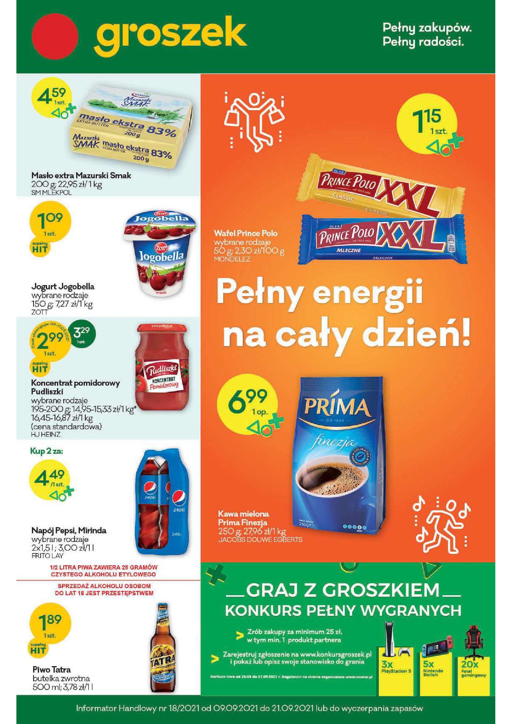 Gazetka Groszek: Gazetka Groszek 2021-09-09 page-1
