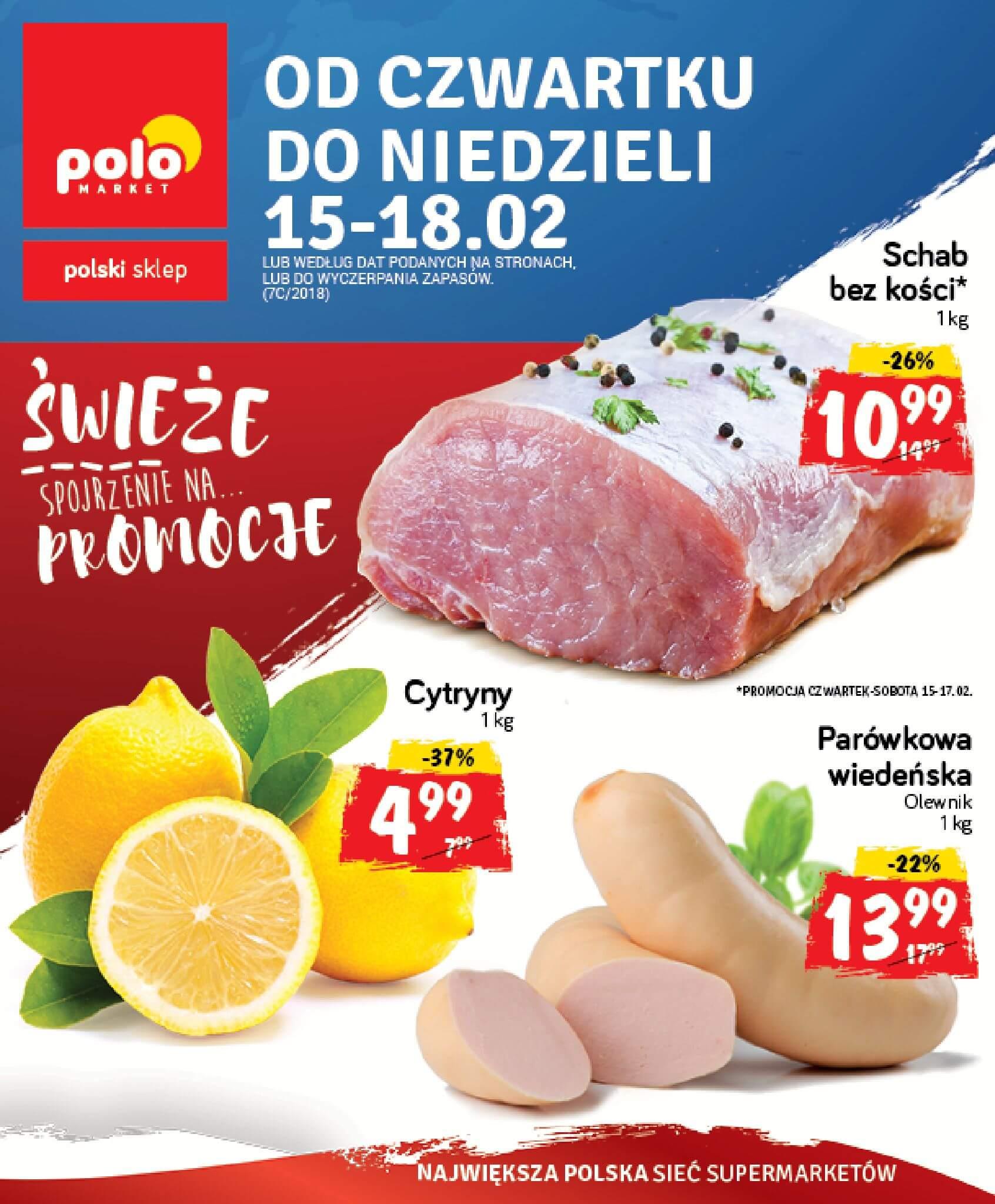Gazetka Polomarket - Oferta na art. spożywcze, kosmetyki, chemię-14.02.2018-18.02.2018-page-1