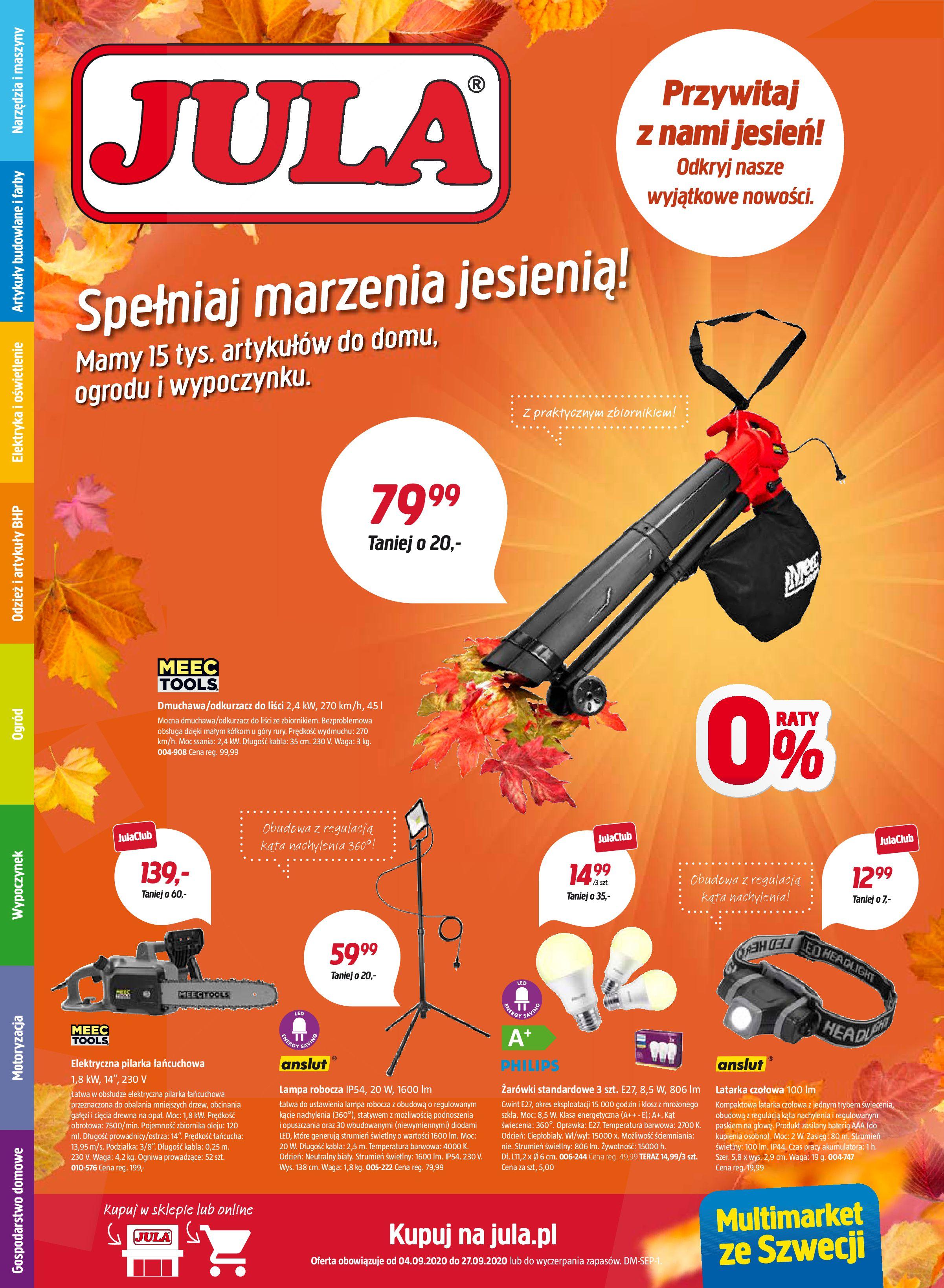 Gazetka Jula - Gazetka promocyjna-03.09.2020-27.09.2020-page-1