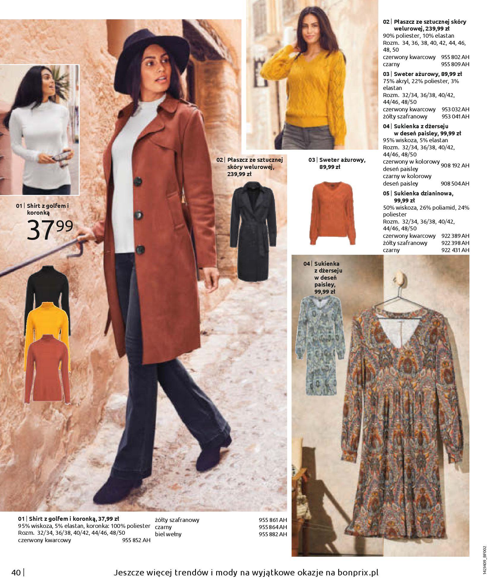 Gazetka Bonprix: Naturalnie i stylowo 2020-09-24 page-42