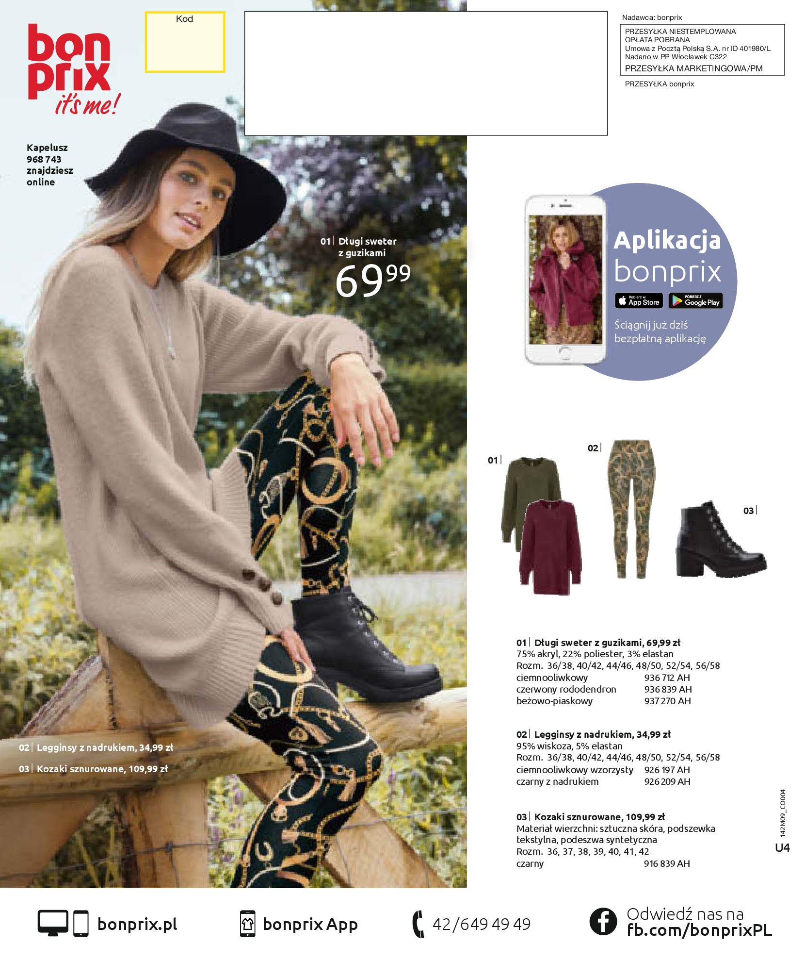 Gazetka Bonprix: Naturalnie i stylowo 2020-09-24 page-100