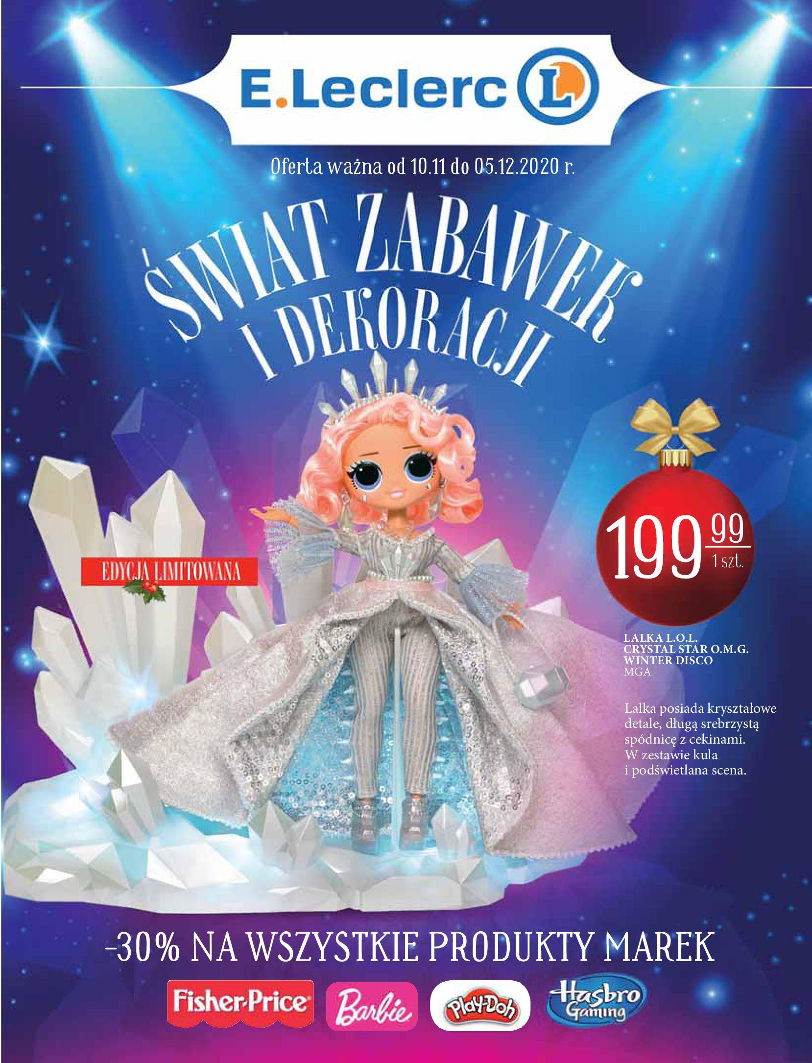 Gazetka E.Leclerc: Świat zabawek i dekoracji 2020-11-10 page-1