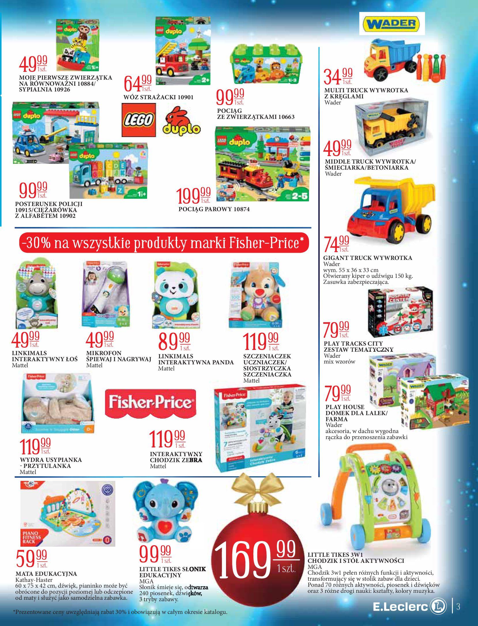 Gazetka E.Leclerc: Świat zabawek i dekoracji 2020-11-10 page-3