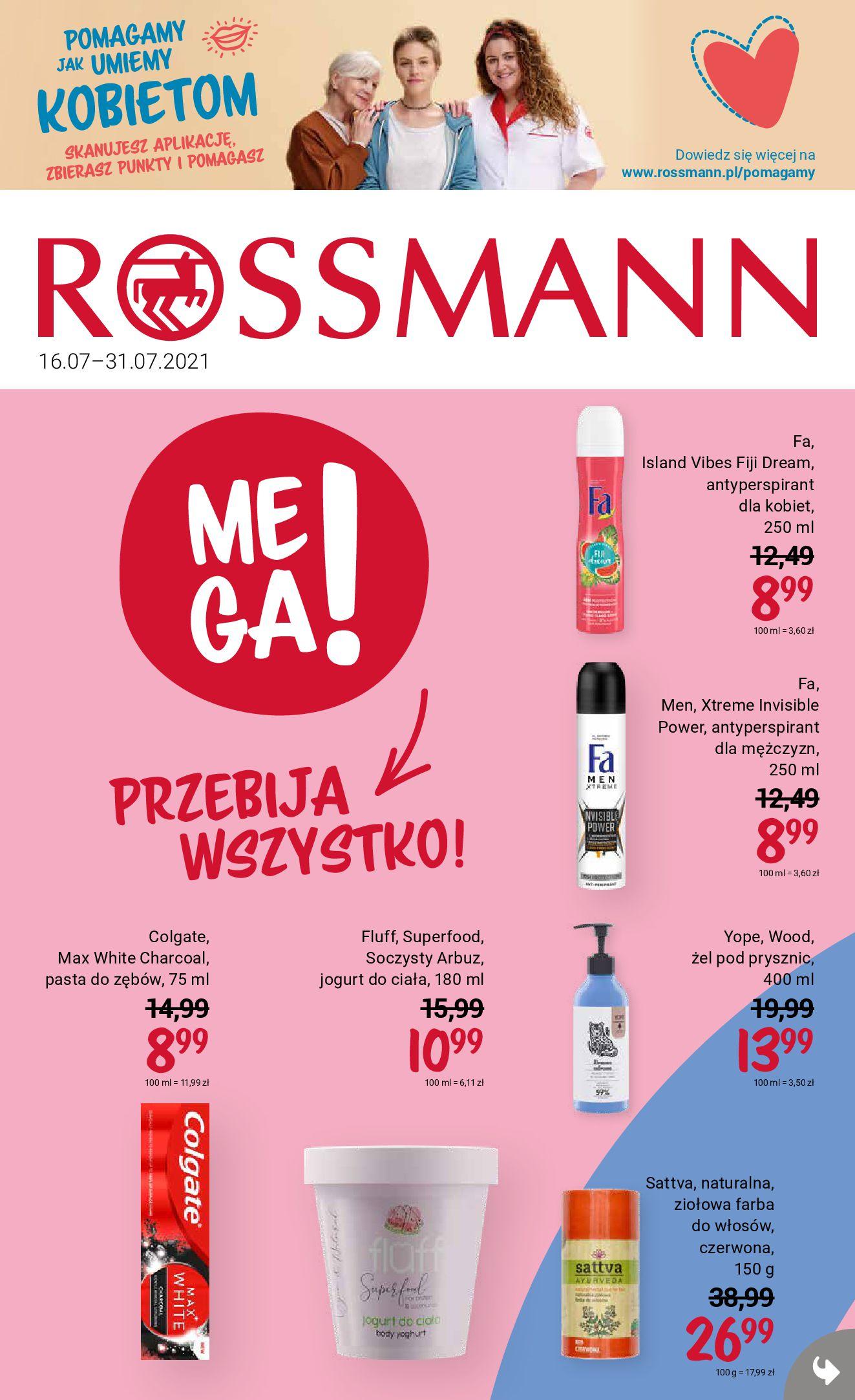 Rossmann:  Gazetka Rossmann od 16.07 15.07.2021