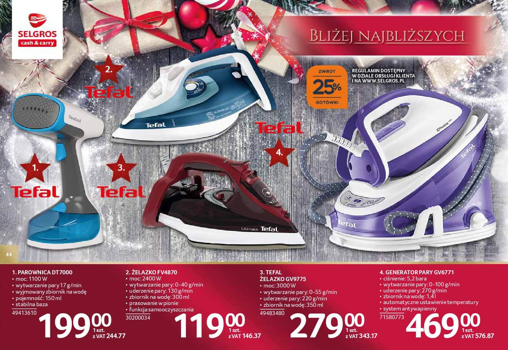 Gazetka Selgros - Katalog prezenty 2017-20.11.2017-24.12.2017-page-44