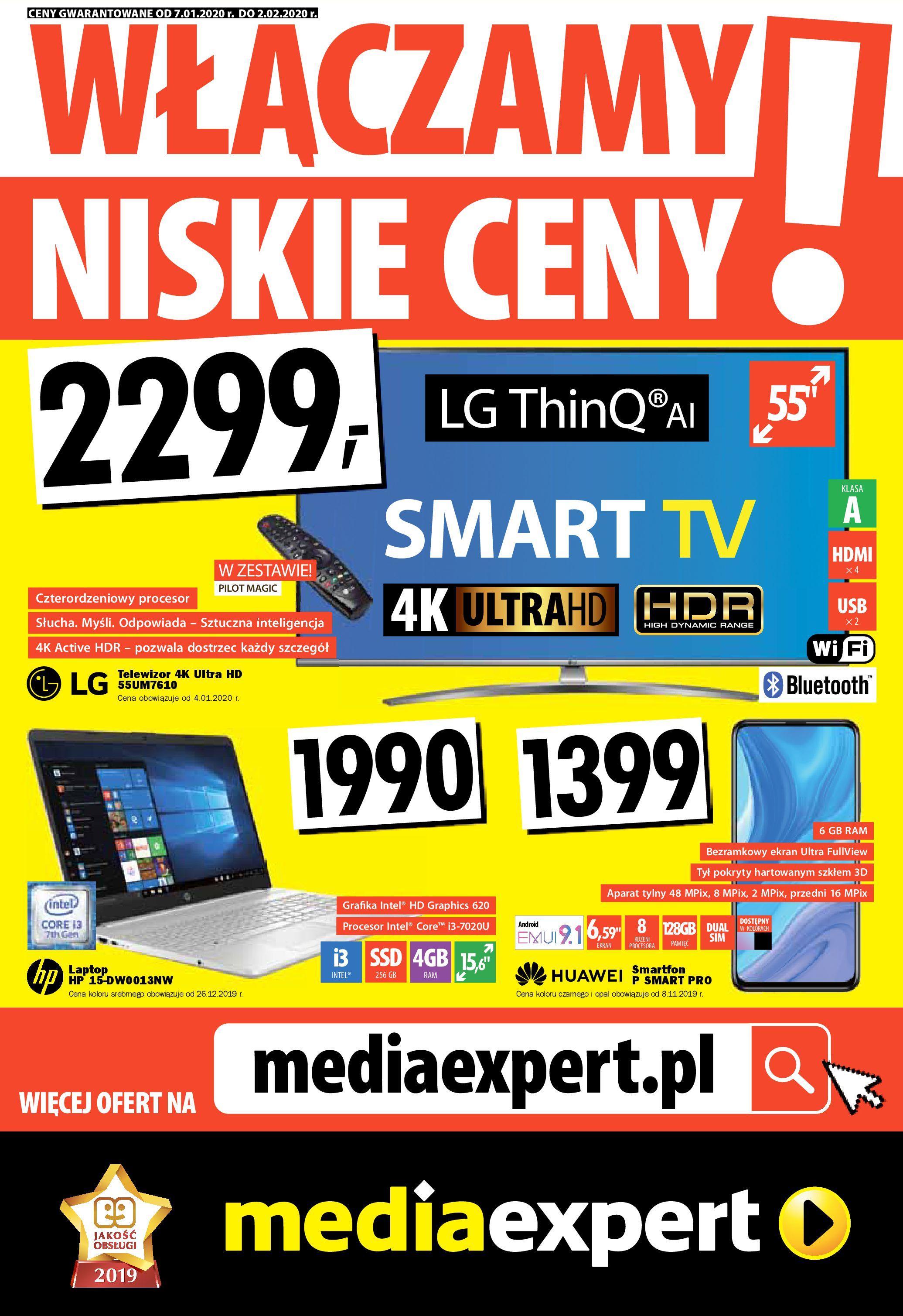 Gazetka Media Expert - WŁĄCZAMY NISKIE CENY!-06.01.2020-02.02.2020-page-1