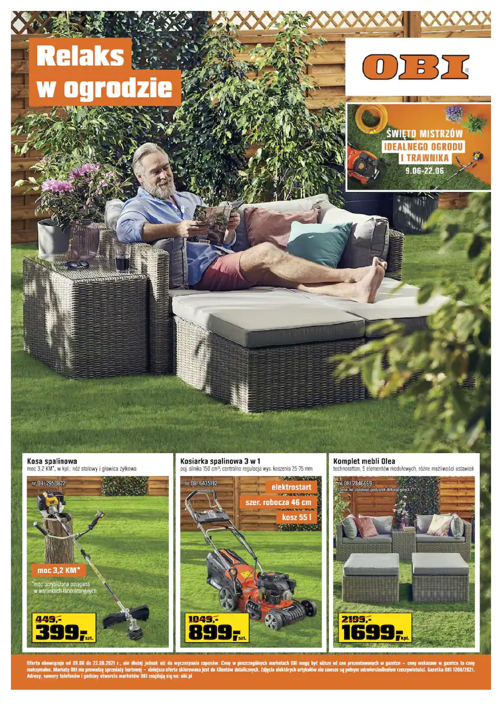 OBI:  Gazetka OBI - Relaks w ogrodzie 08.06.2021