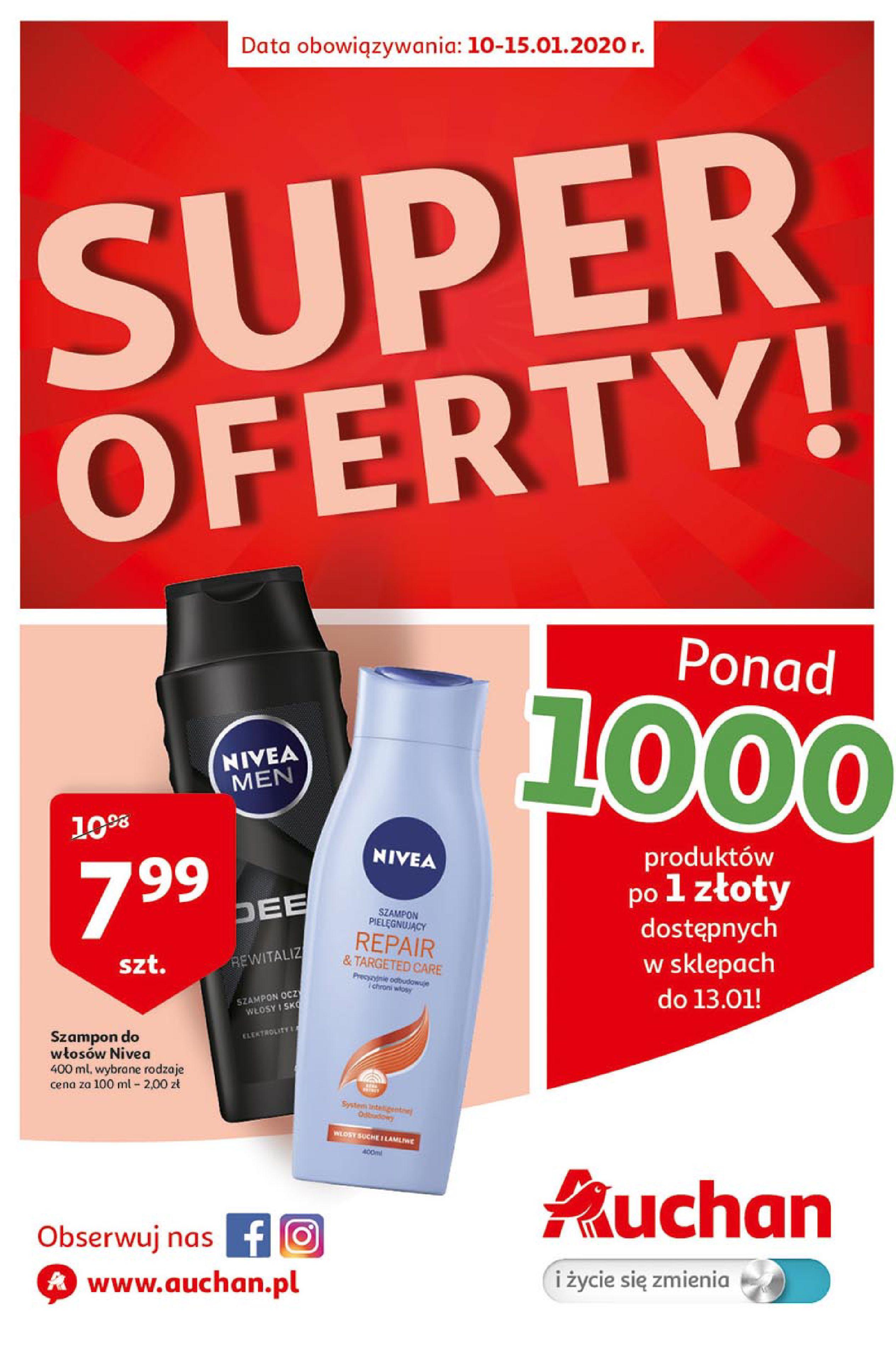 Gazetka Auchan - Super Oferty Hipermarkety-09.01.2020-15.01.2020-page-1