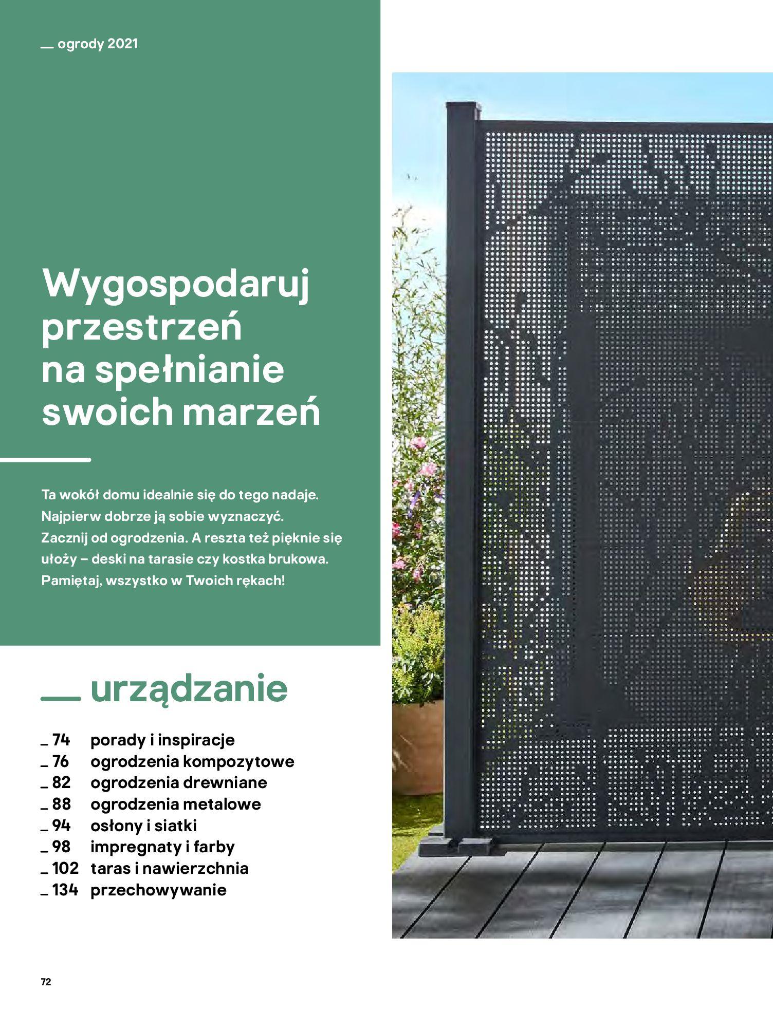 Gazetka Castorama: Katalog ogrody 2021-03-01 page-72